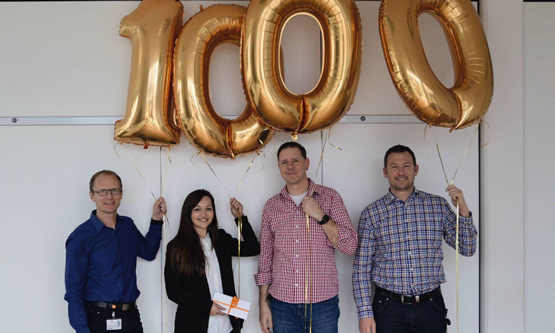 Testo Industrial Services begrüßt die 1.000 Mitarbeiterin