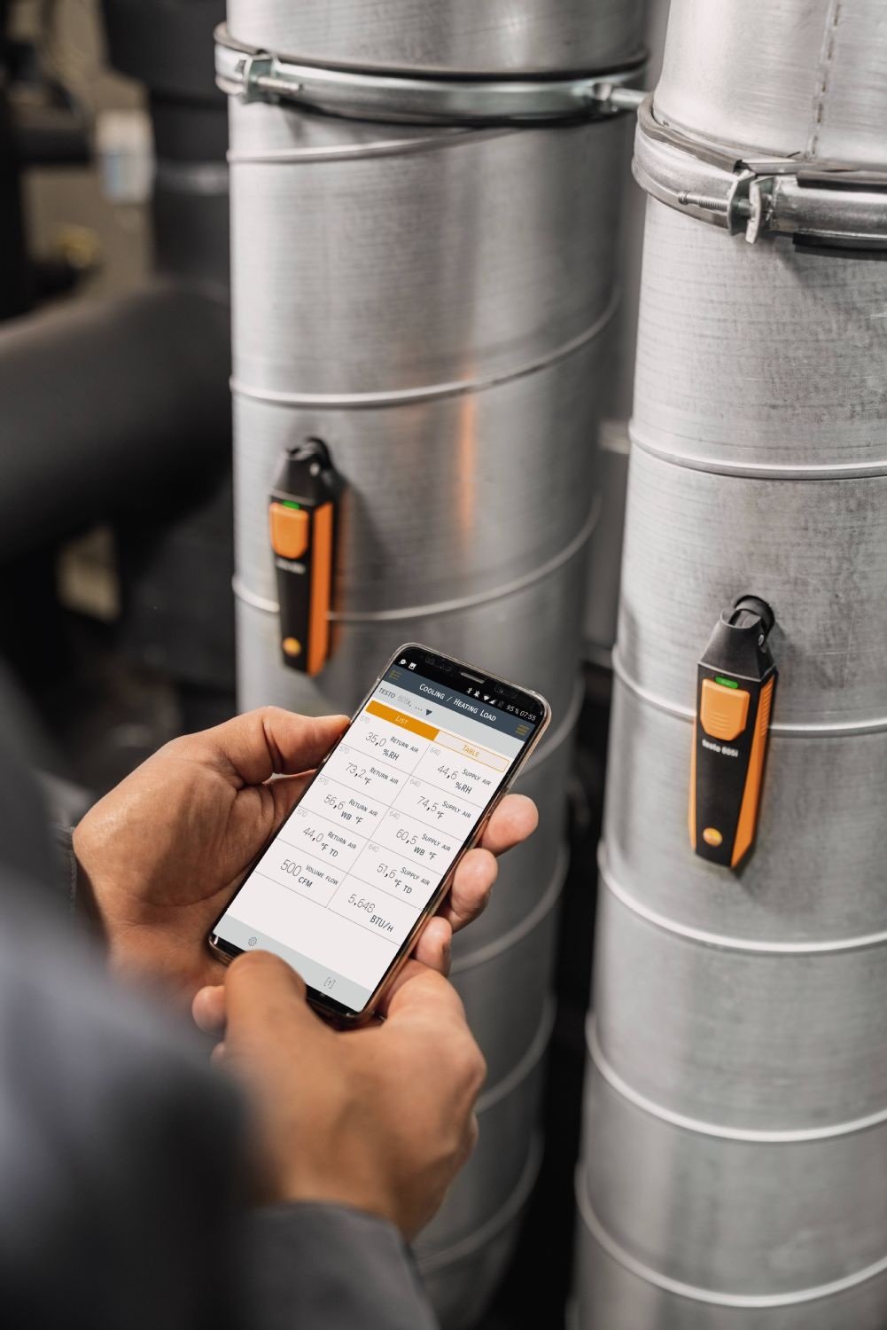 application testo Smart Probes AC & Refrigeration Test & Load Kit
