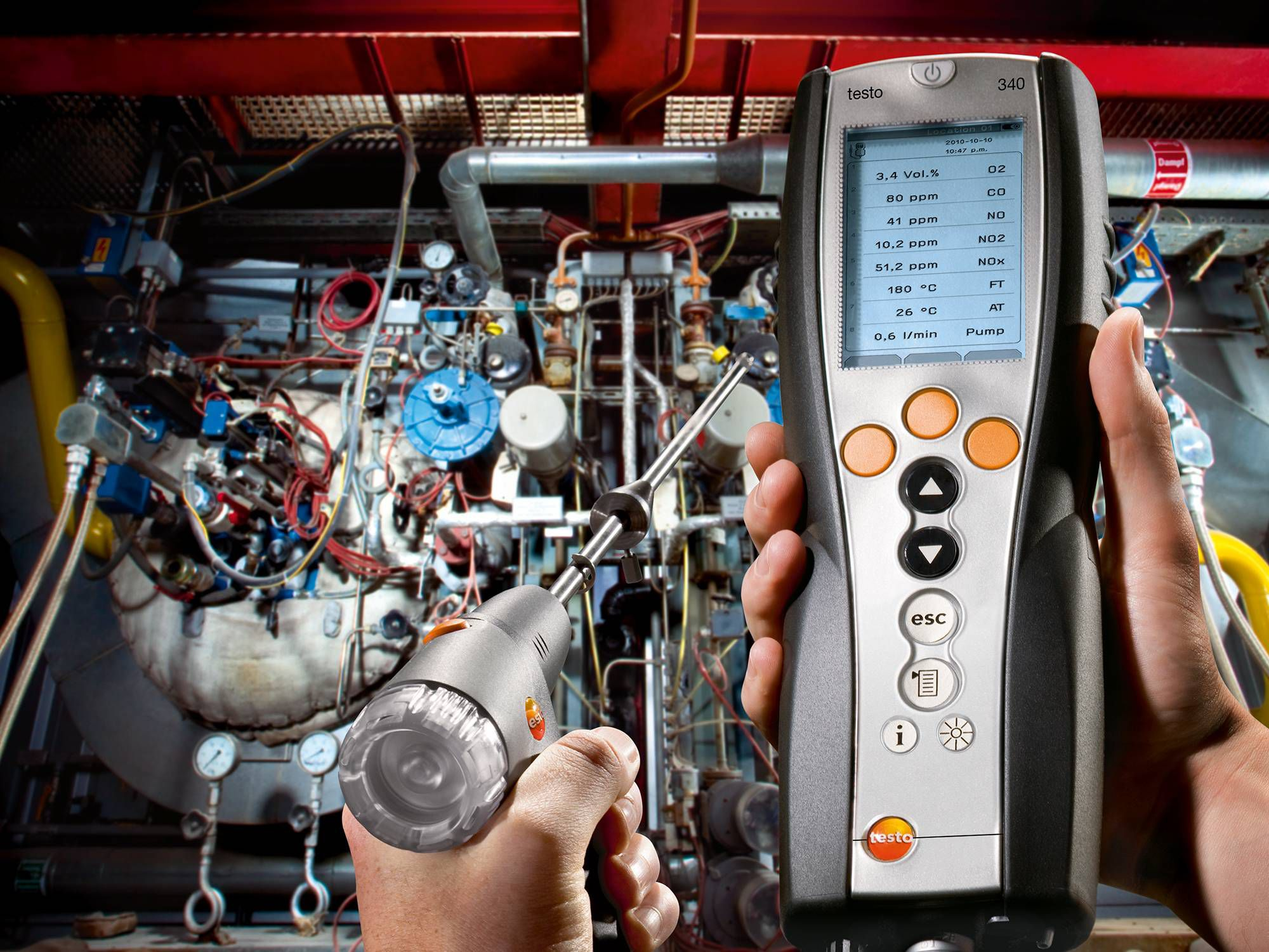 Flue gas analyzer testo 320