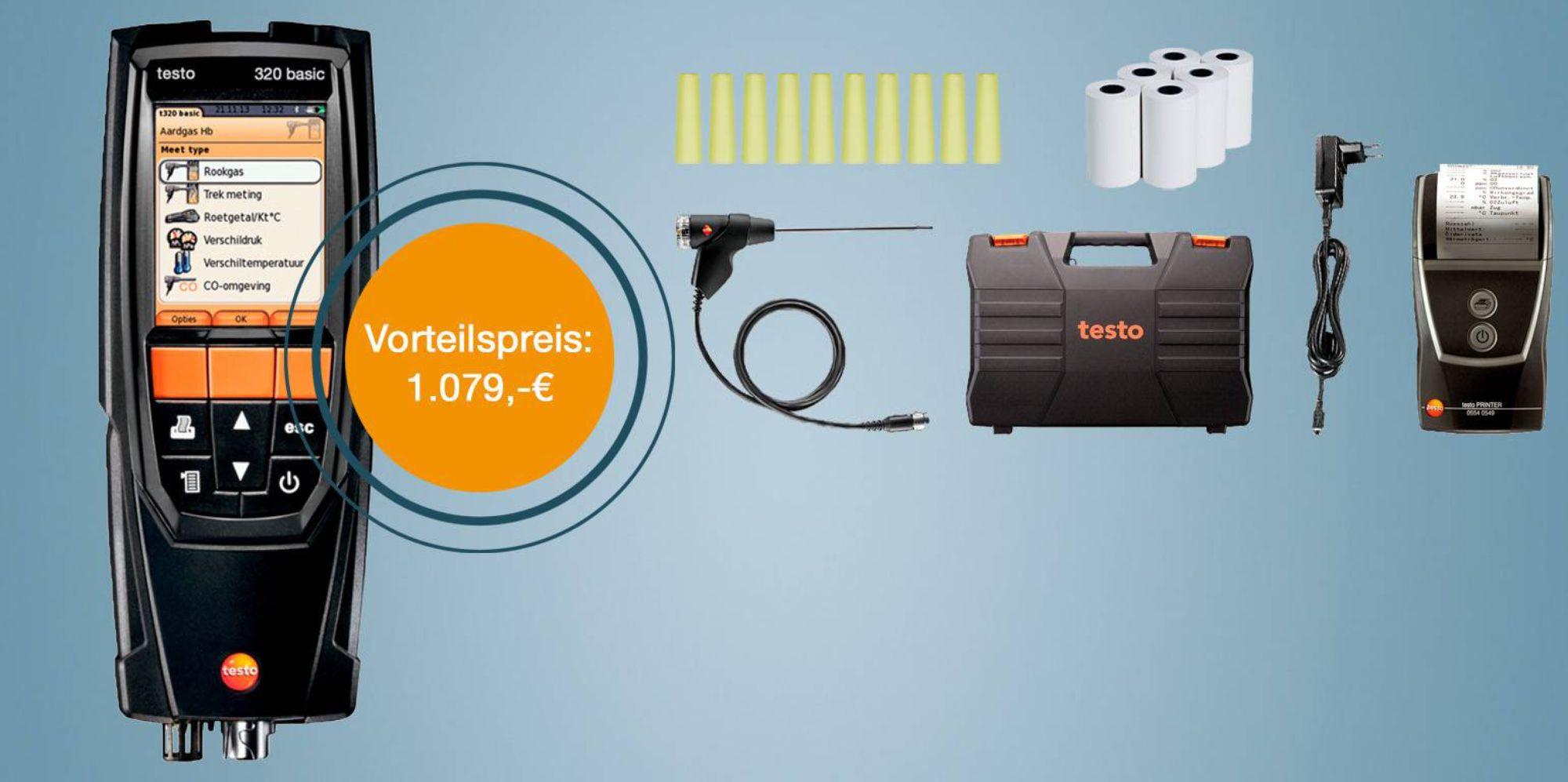 testo 320 Einsteiger-Set - Abgasmessgerät