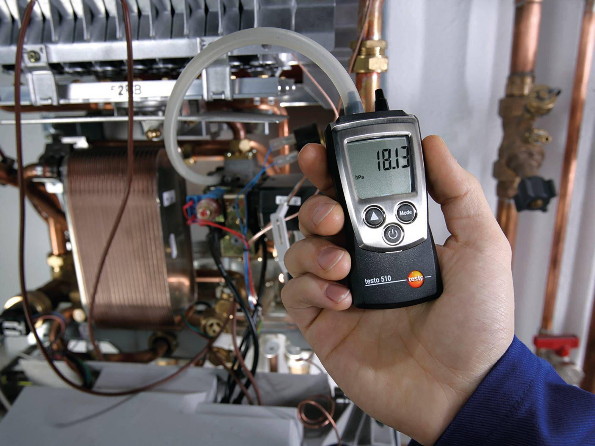 testo 510 für die Messung an Anlagen im SHK-Bereich