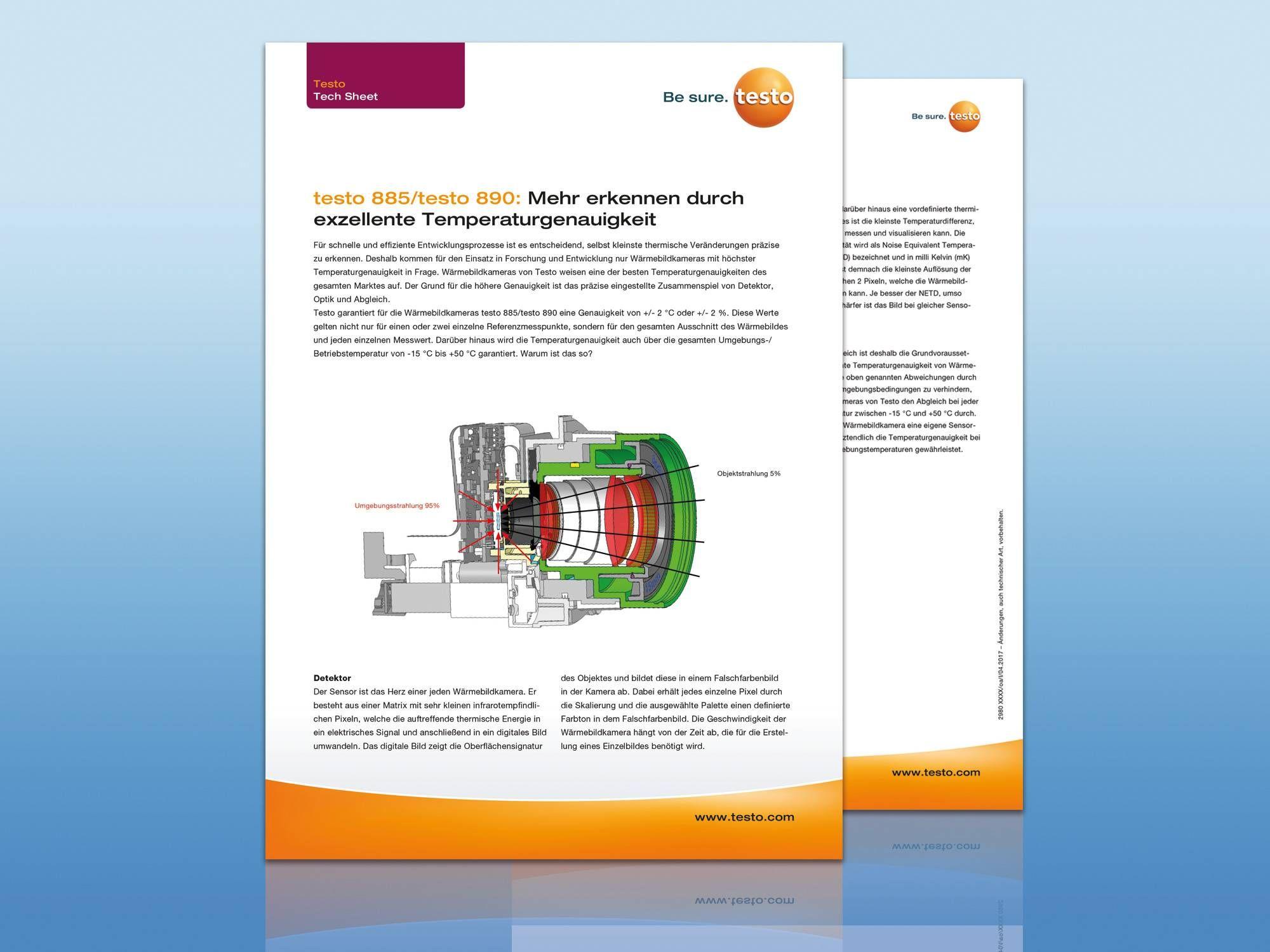 Sıcaklık ölçümü hassasiyeti teknik bilgi sayfası