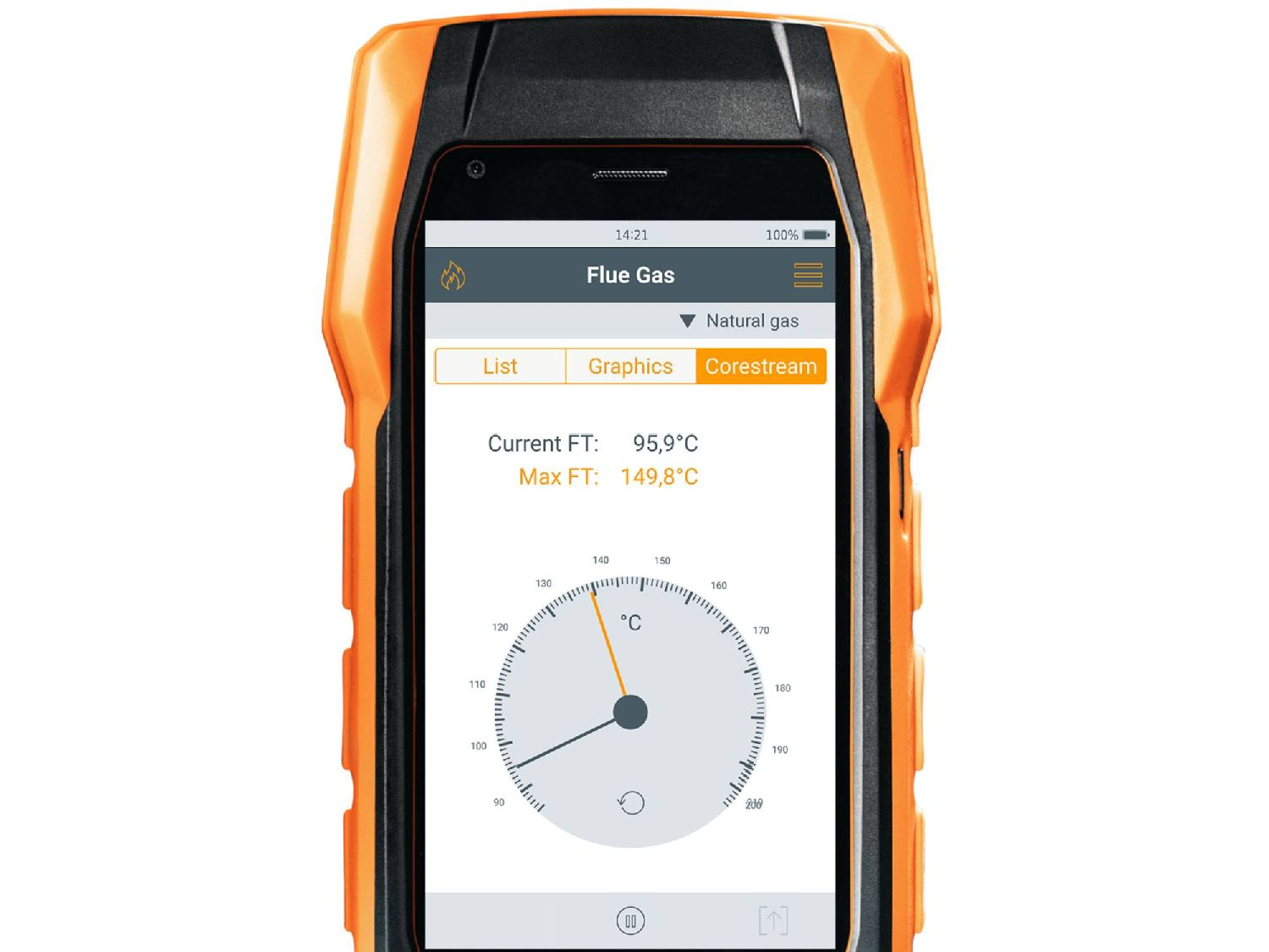 Flux central - analyseur de combustion testo 300