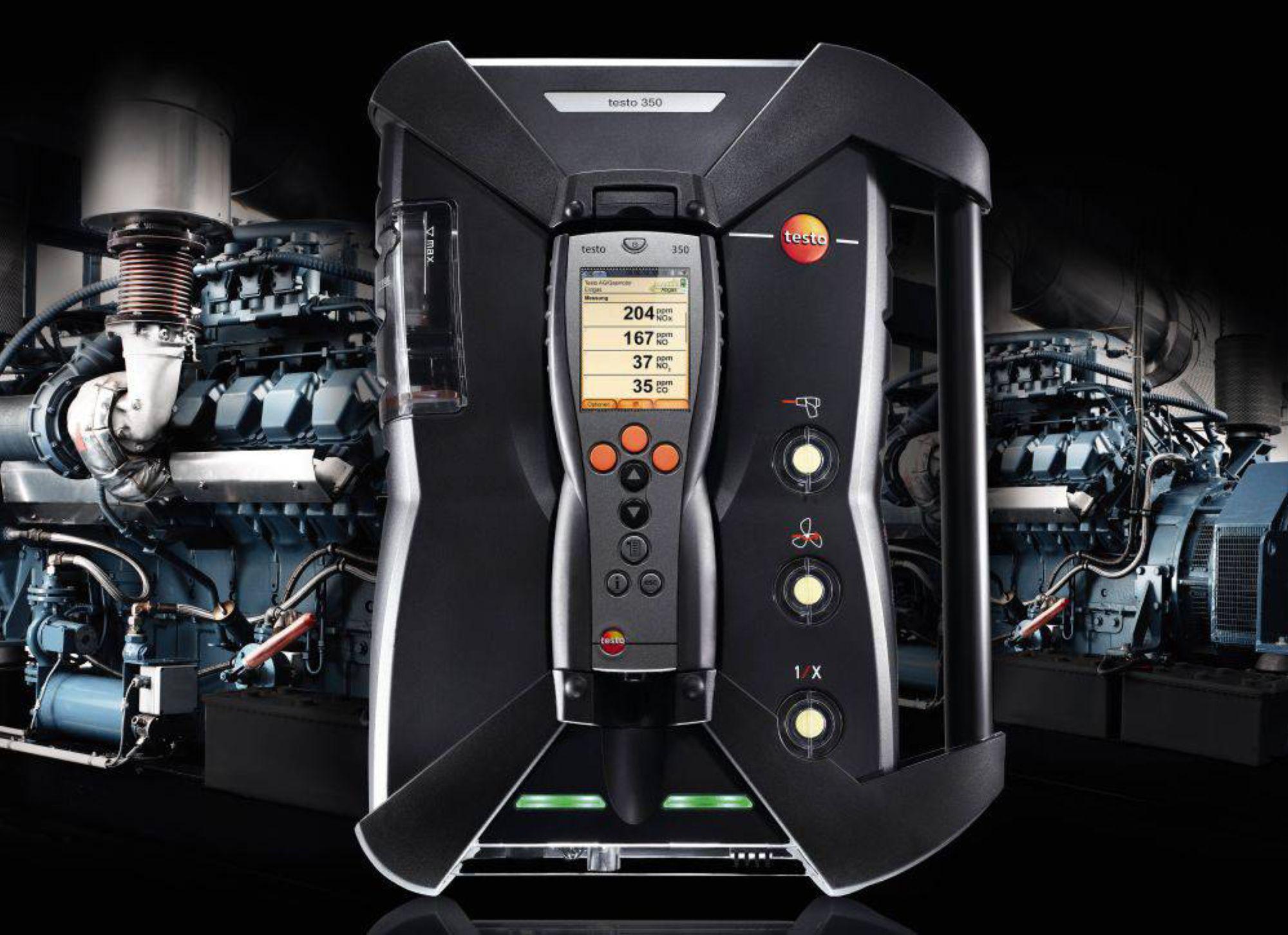 The emission analyzer testo 350