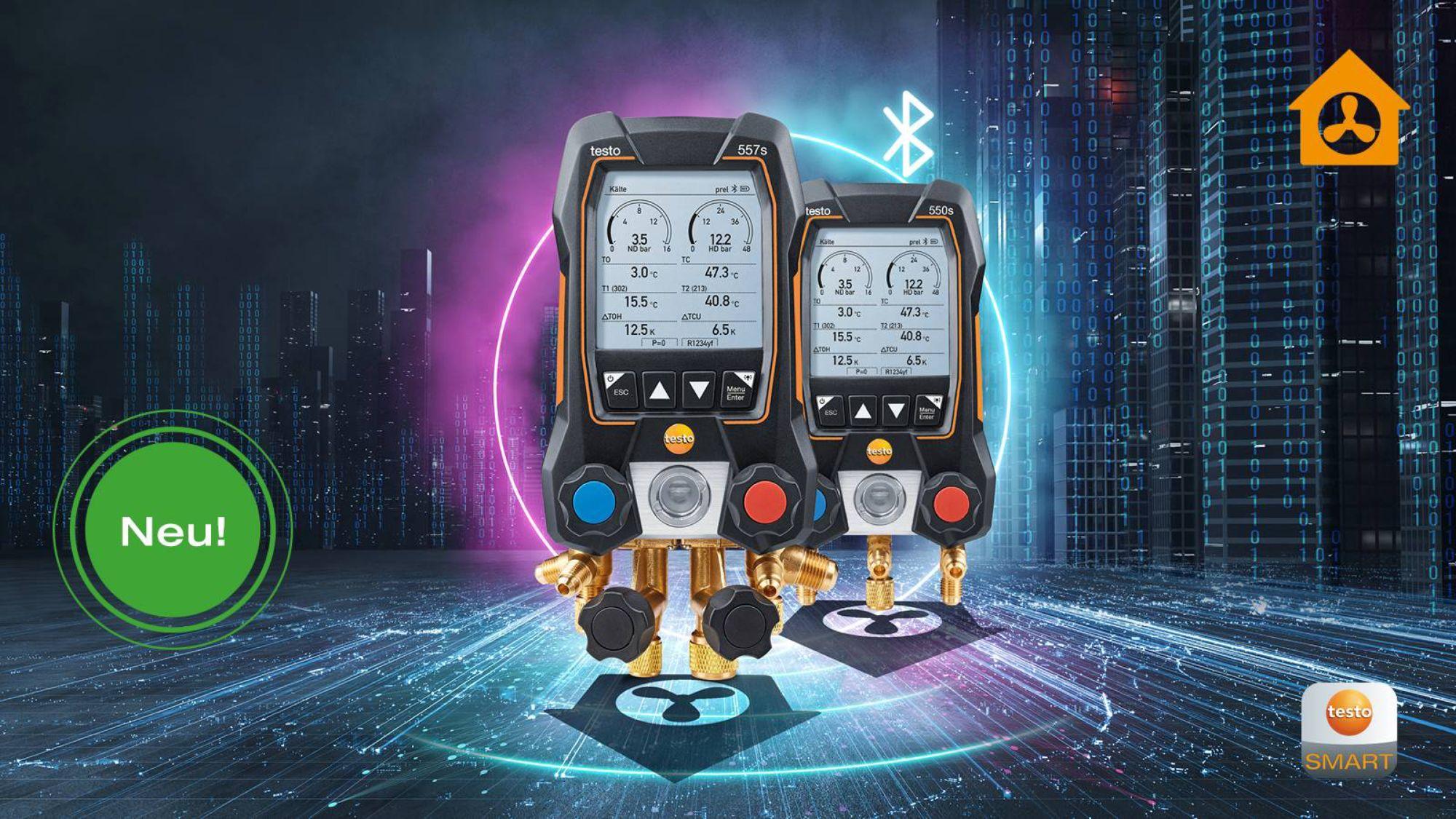 Digitale Monteurhilfen testo 557s und testo 550s