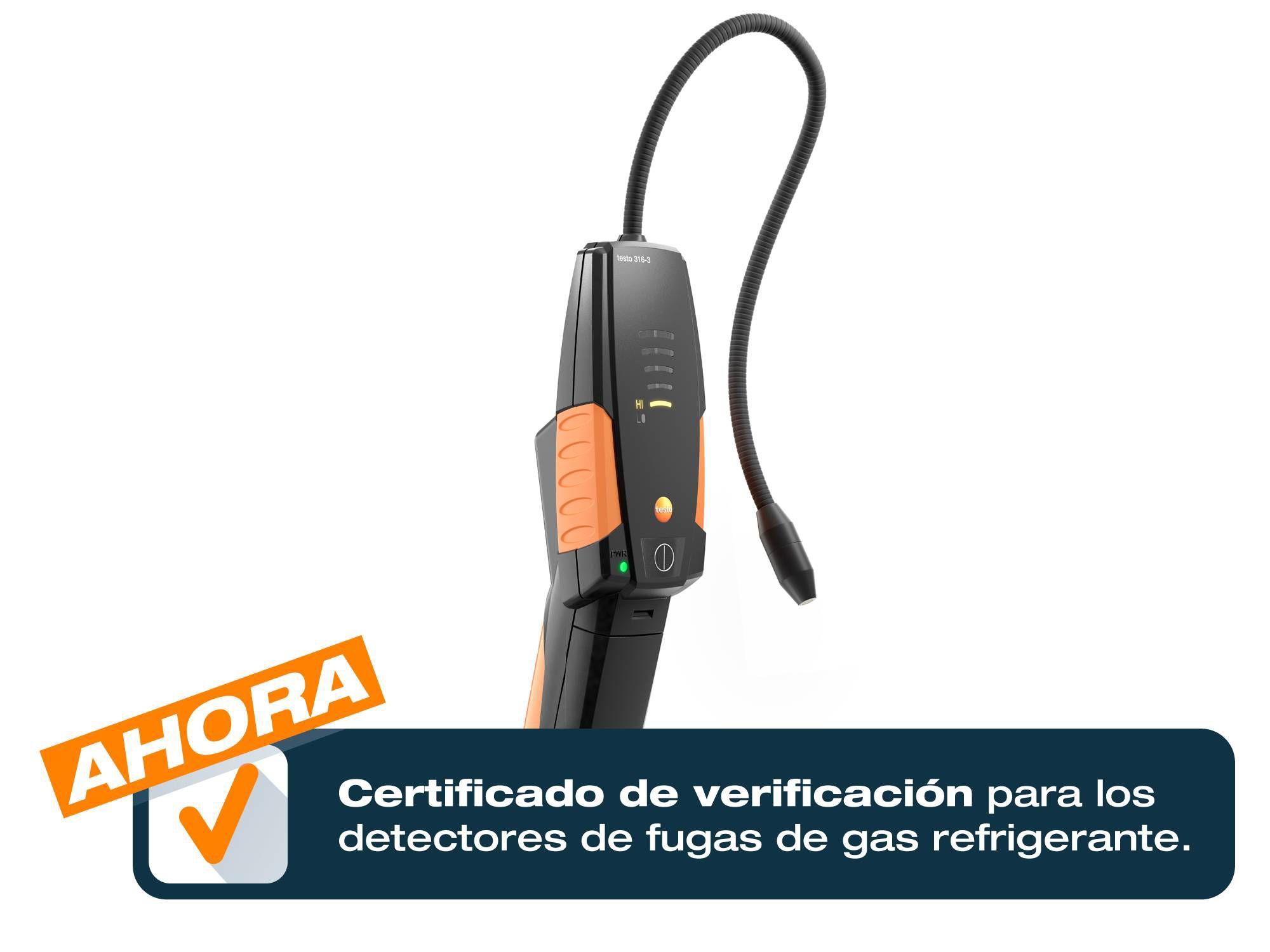 Testo 316-3 con certificado de calibración