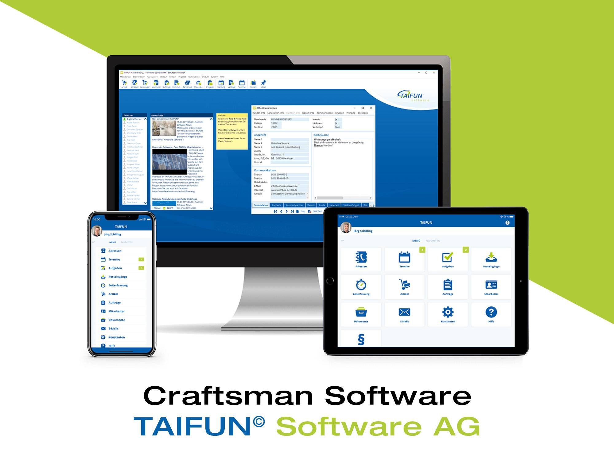 Contactors' software TAIFUN© Software AG