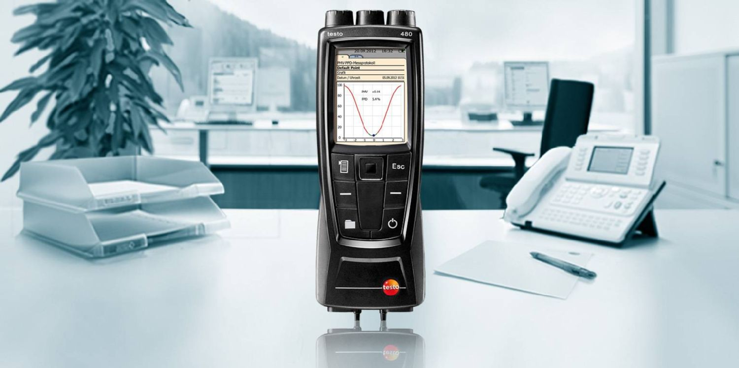 Norm-compliant VAC measurements: testo 480
