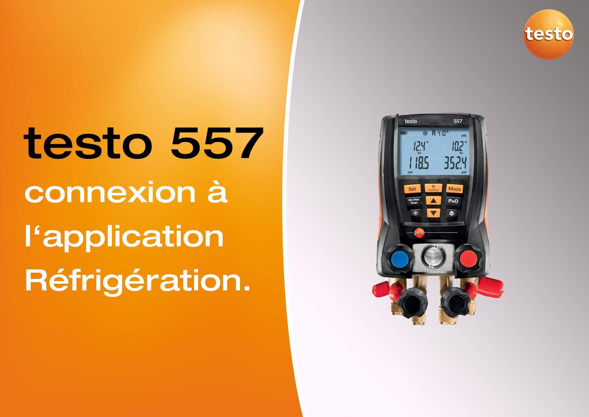 Tutoriel vidéo connexion à l'App Réfrigération manomètre testo 557