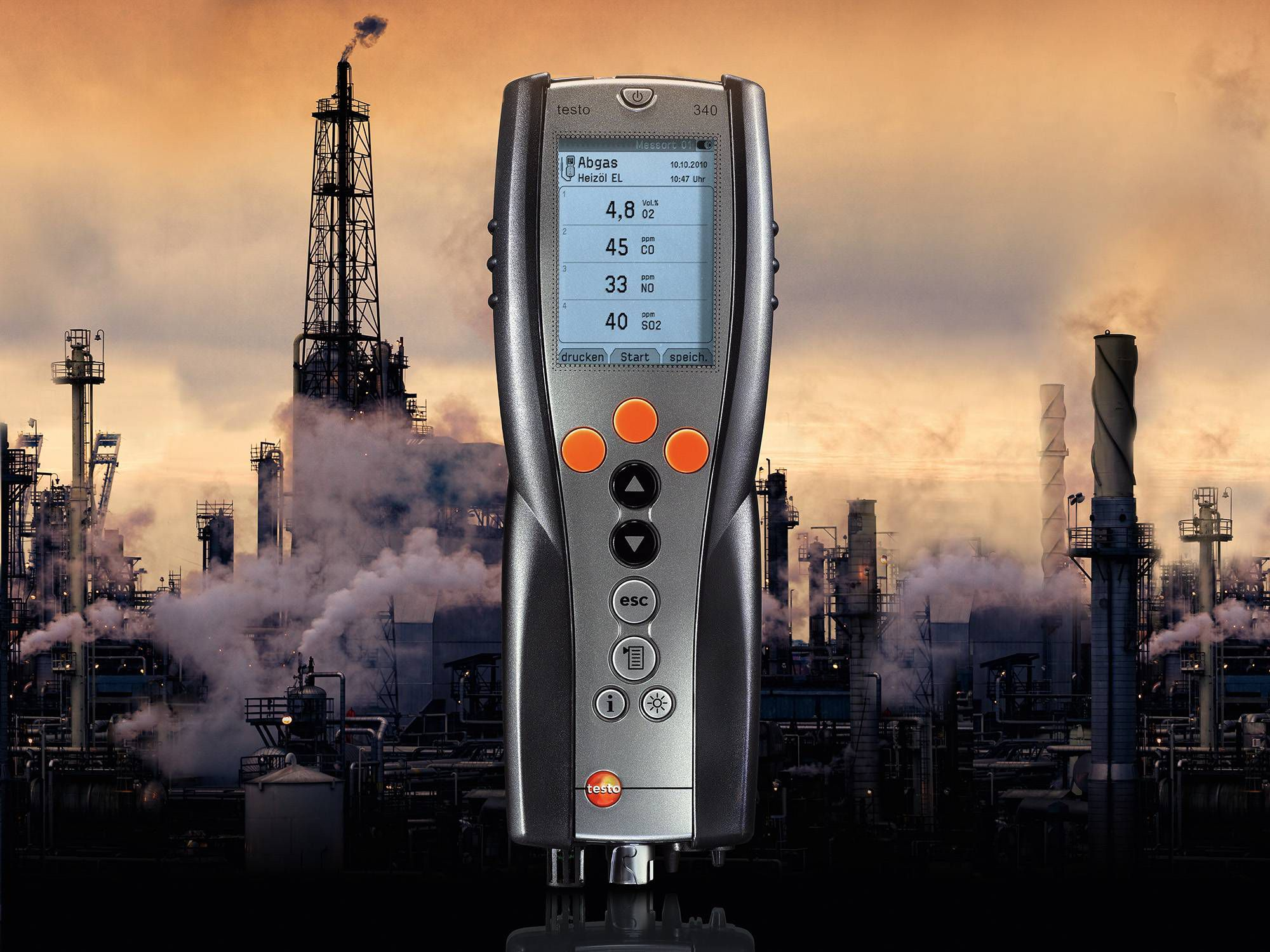 The emission analyzer testo 340