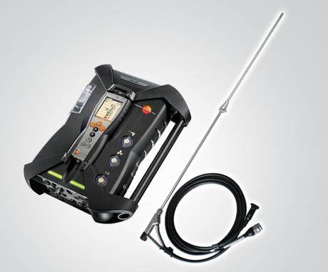 """德图非加热解决方案,即 testo 烟气分析仪配备  """"德图研发特制 SO2 low采样组件"""",组件包含一根特制  SO2 low 采样探针及  SO2 low 传感器。"""