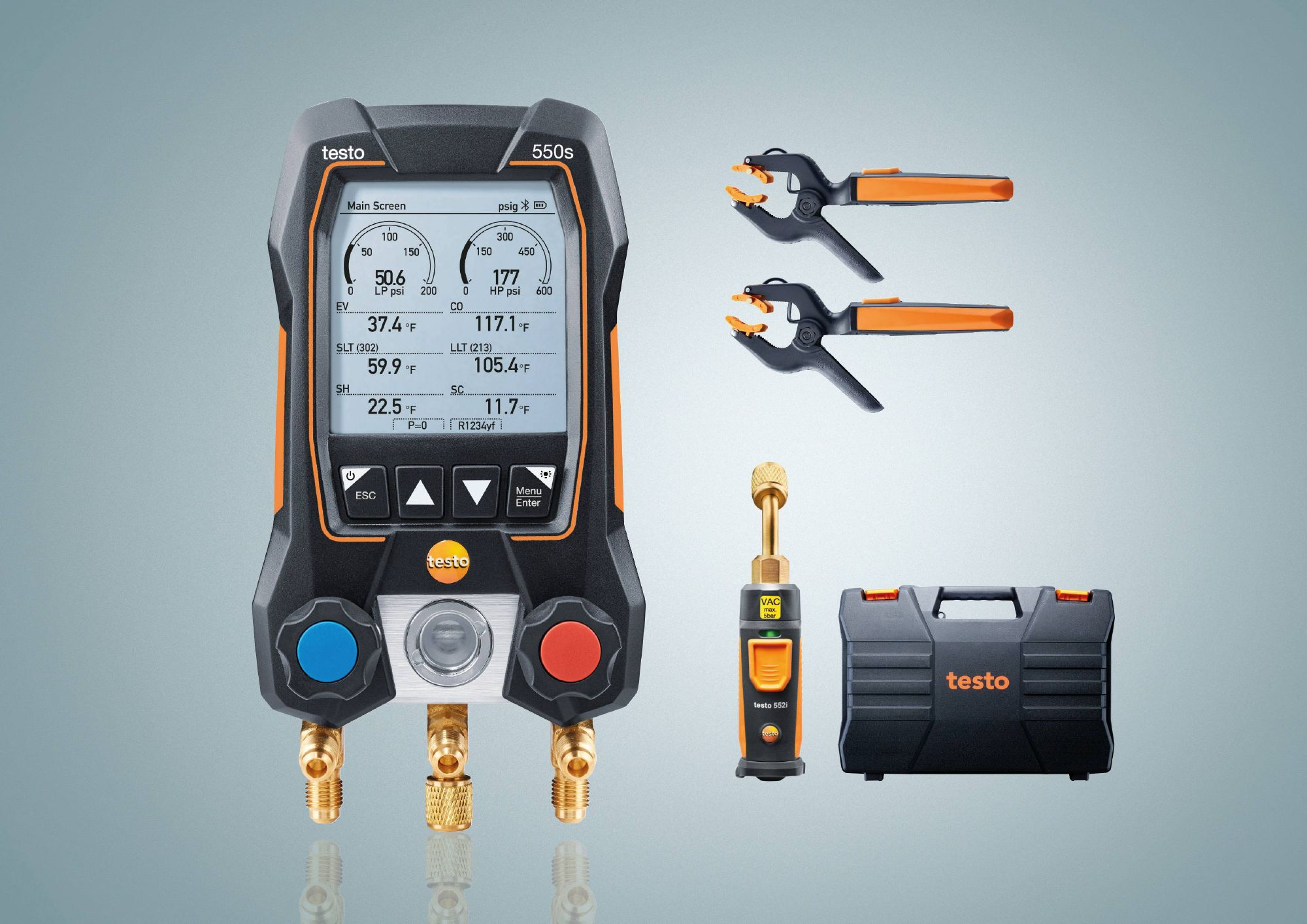 testo 550s Smart Vacuum Kit