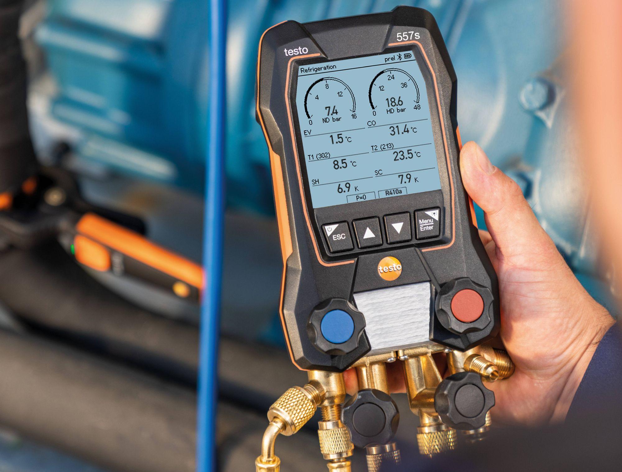 Measuring instrument heat pumps