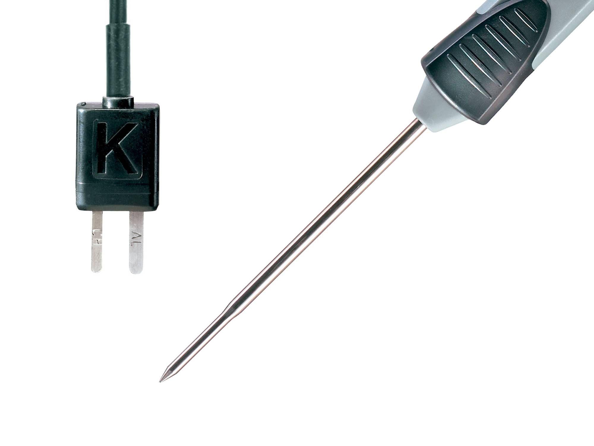 Detalle conector y punta de la sonda Testo