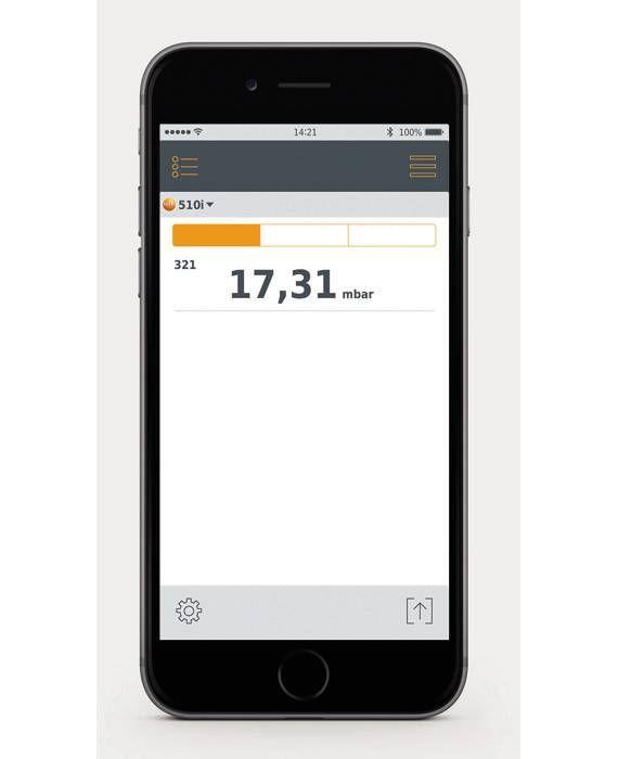 manomètre différentiel avec commande Smartphone