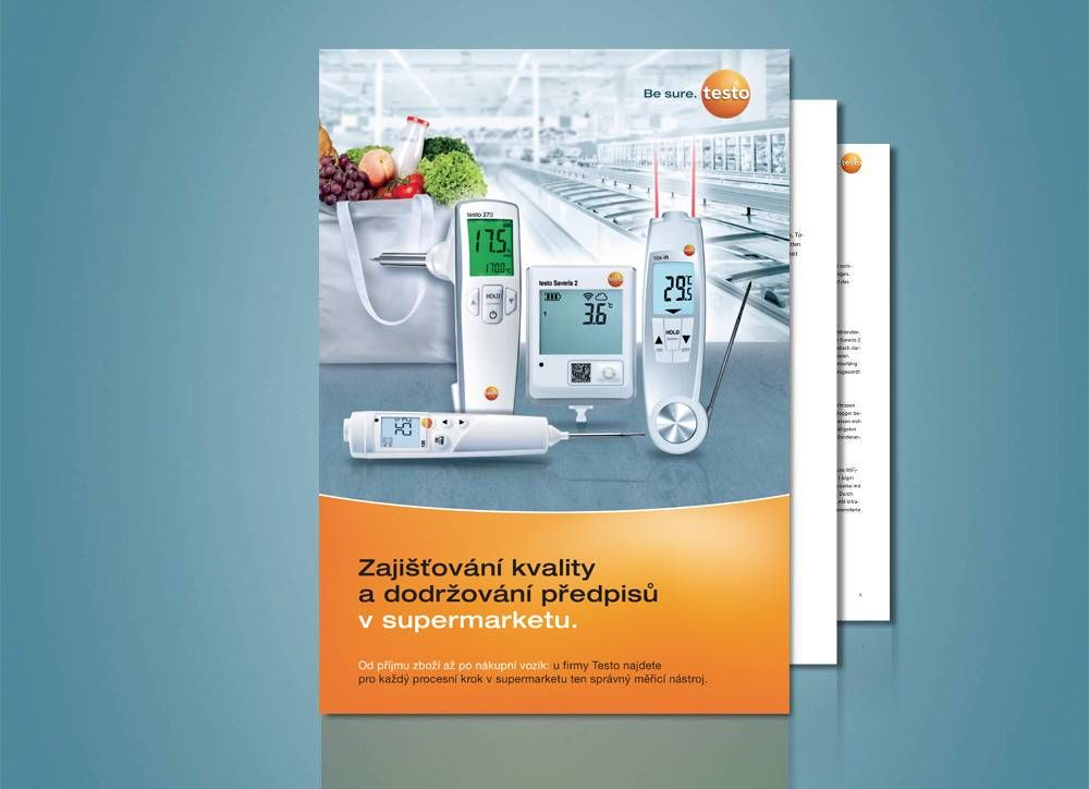 Testo application guide Ensuring food quality and compliance in supermarkets