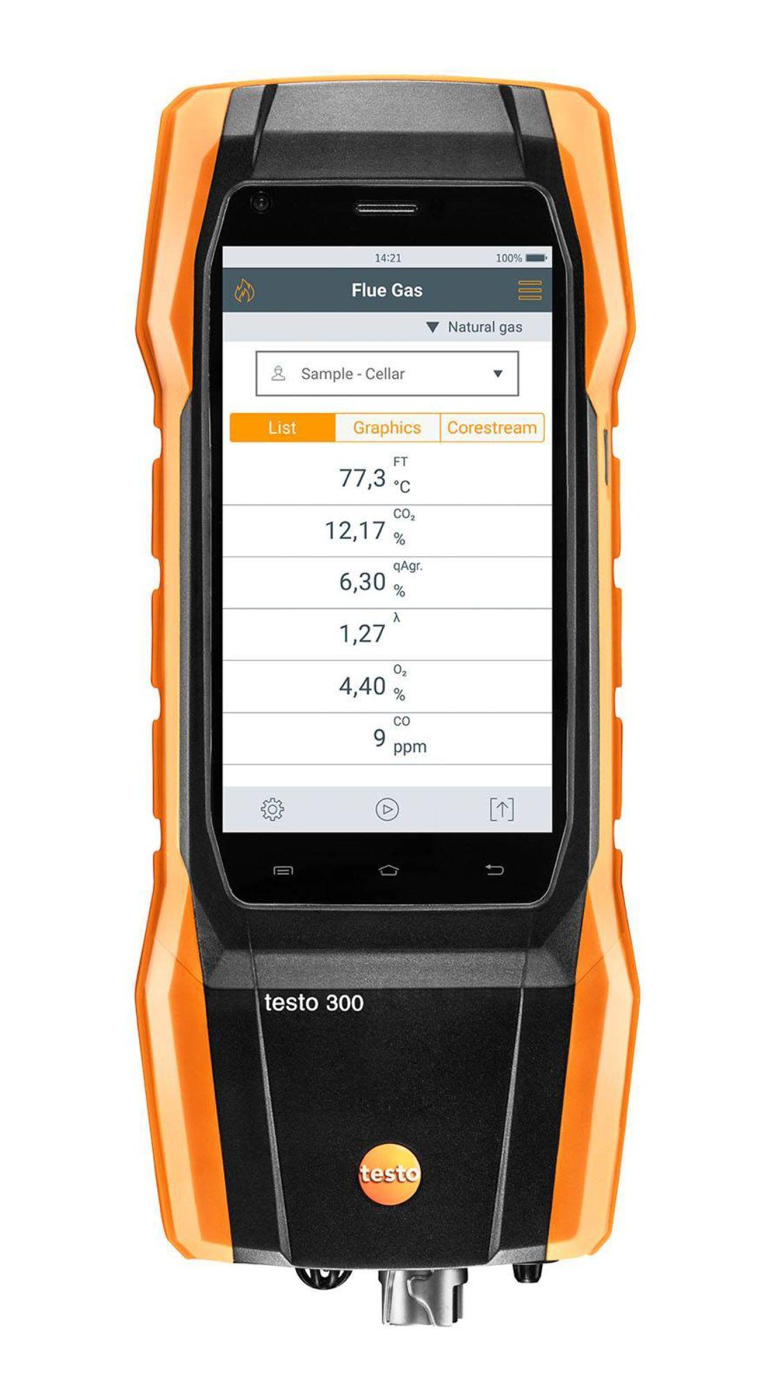 testo 300 flue gas analyzer