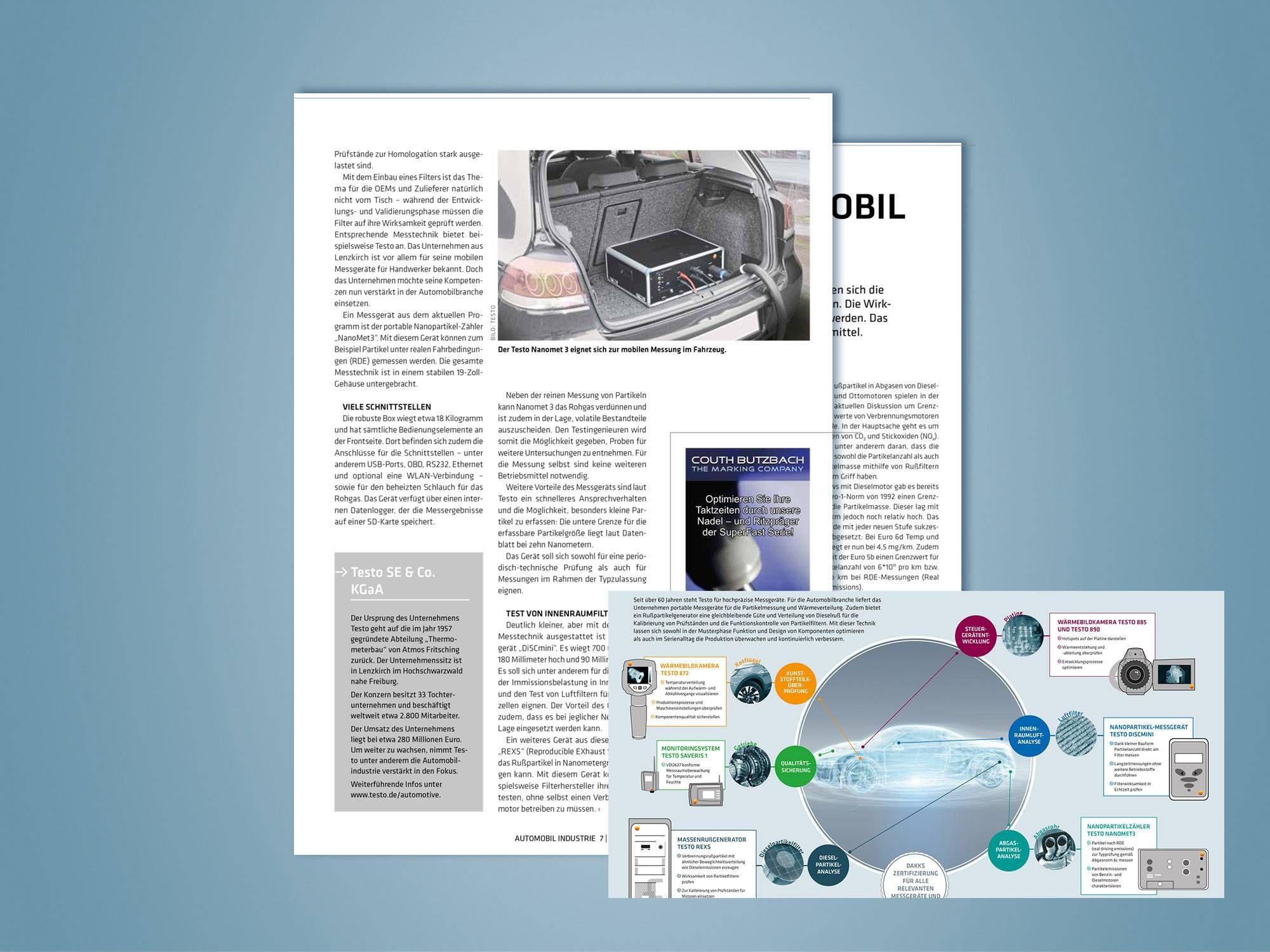 Redaktioneller Beitrag der Zeitschrift Autmobil Industrie