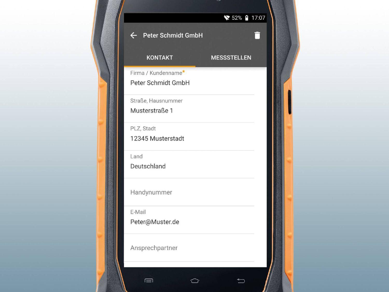 Mobile Kundendatei