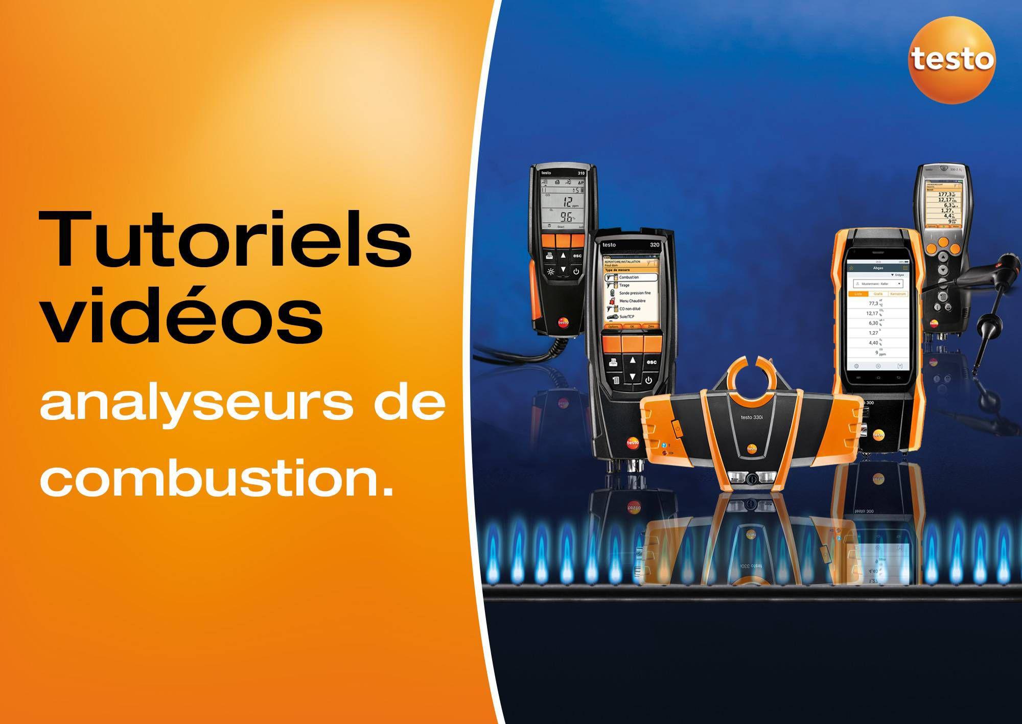 Tutoriels vidéos analyseurs de combustion testo