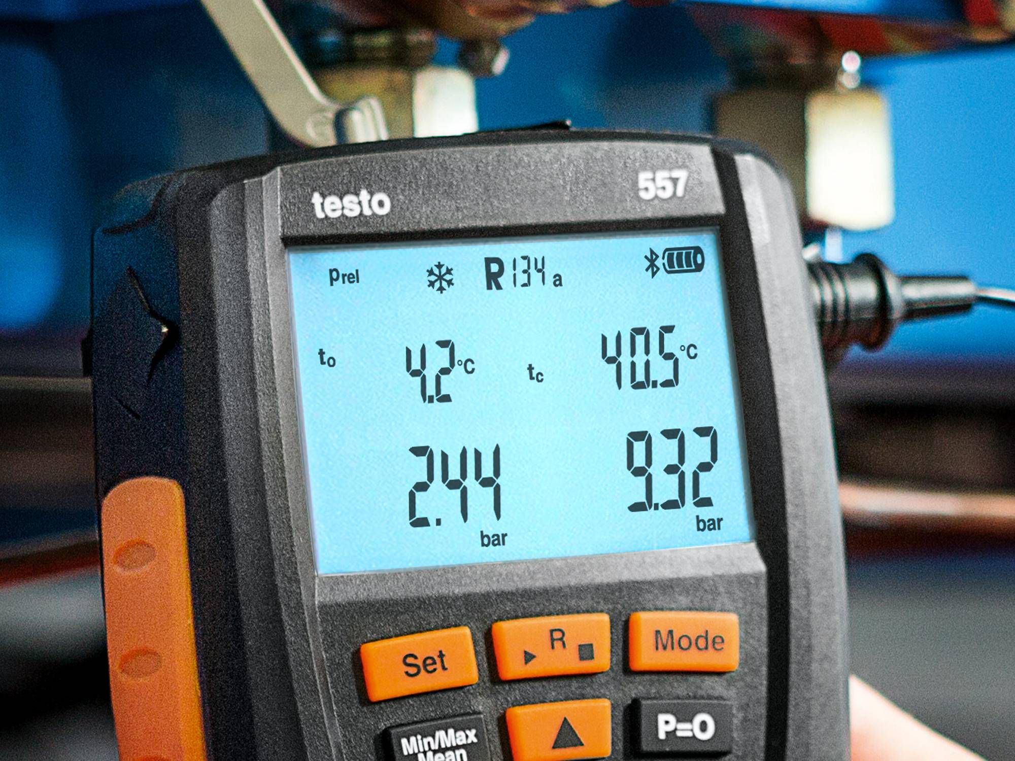 Testo manifold display