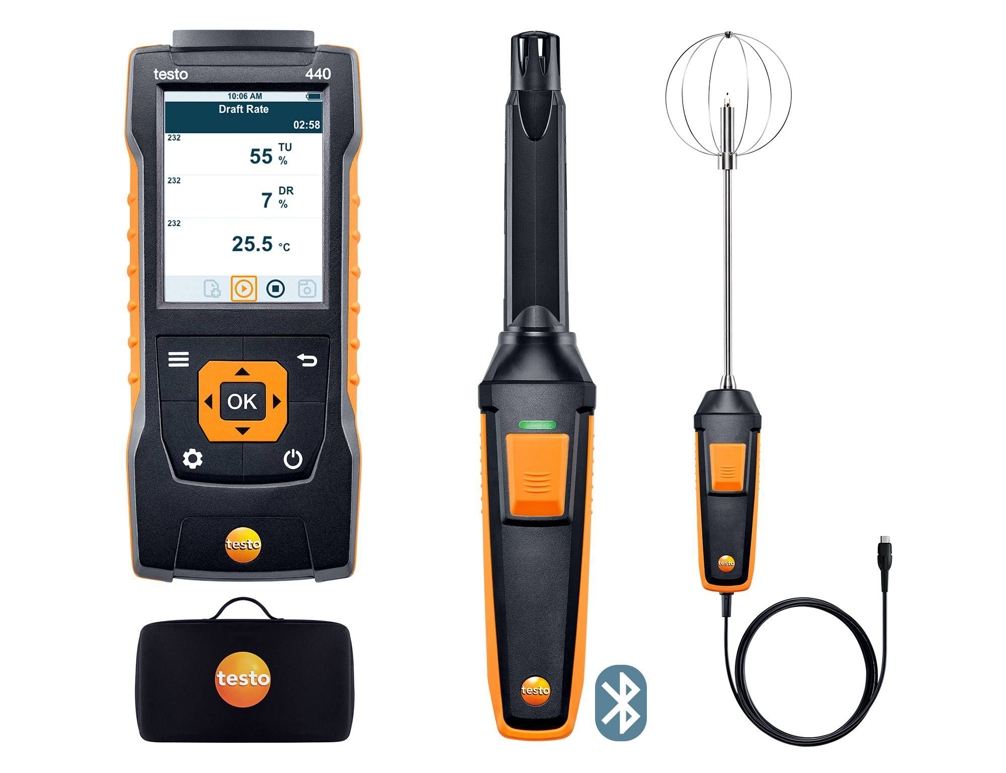 testo 440 Indoor Comfort ComboKit with Bluetooth®