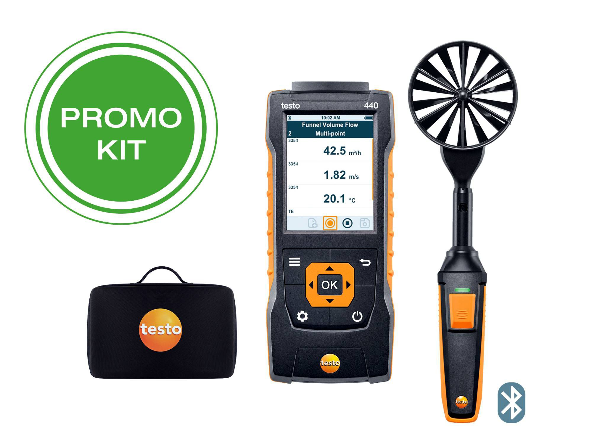 testo440 100mm Vane Kit with Bluetooth®