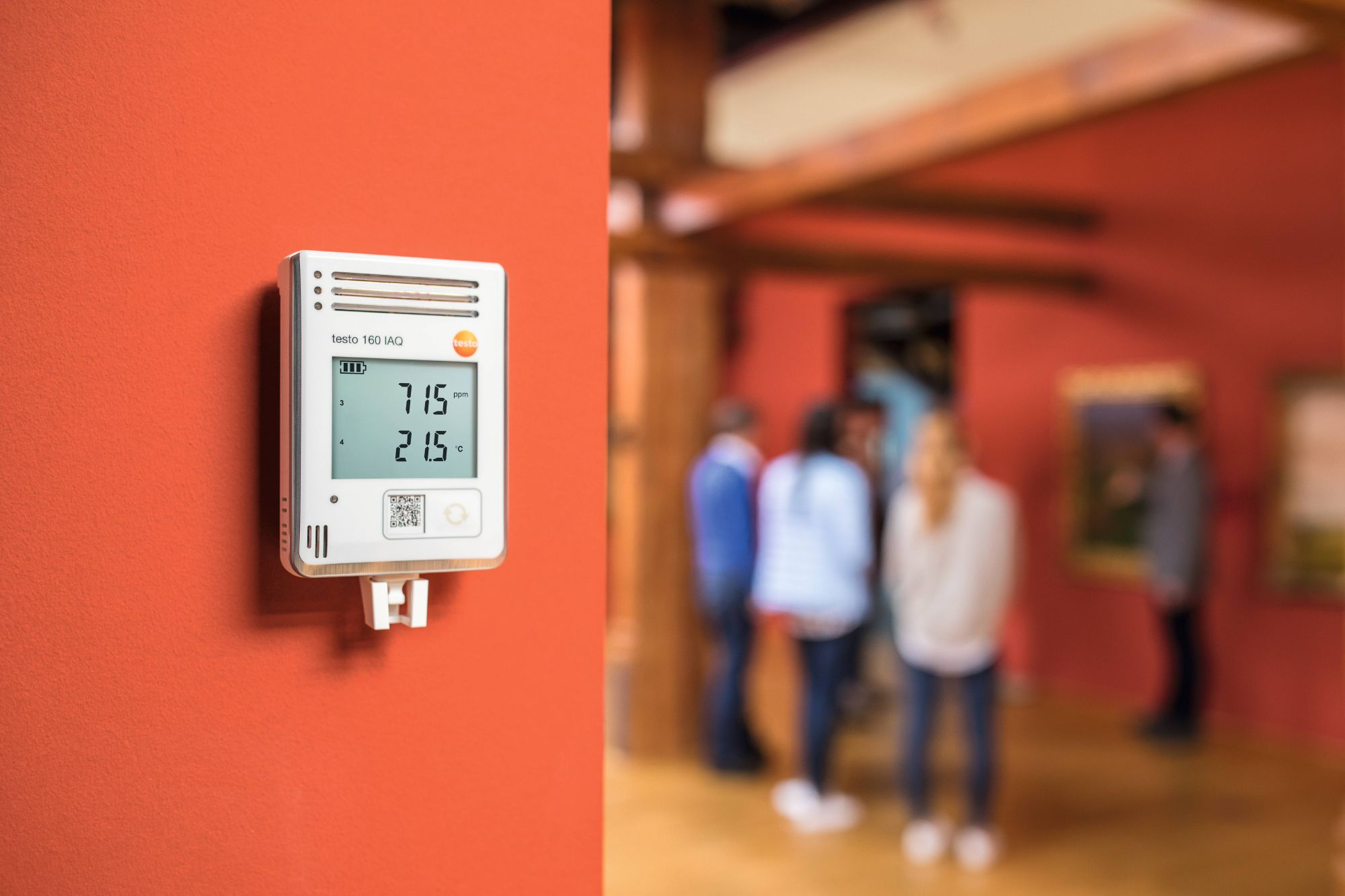CO₂ data logger in museums