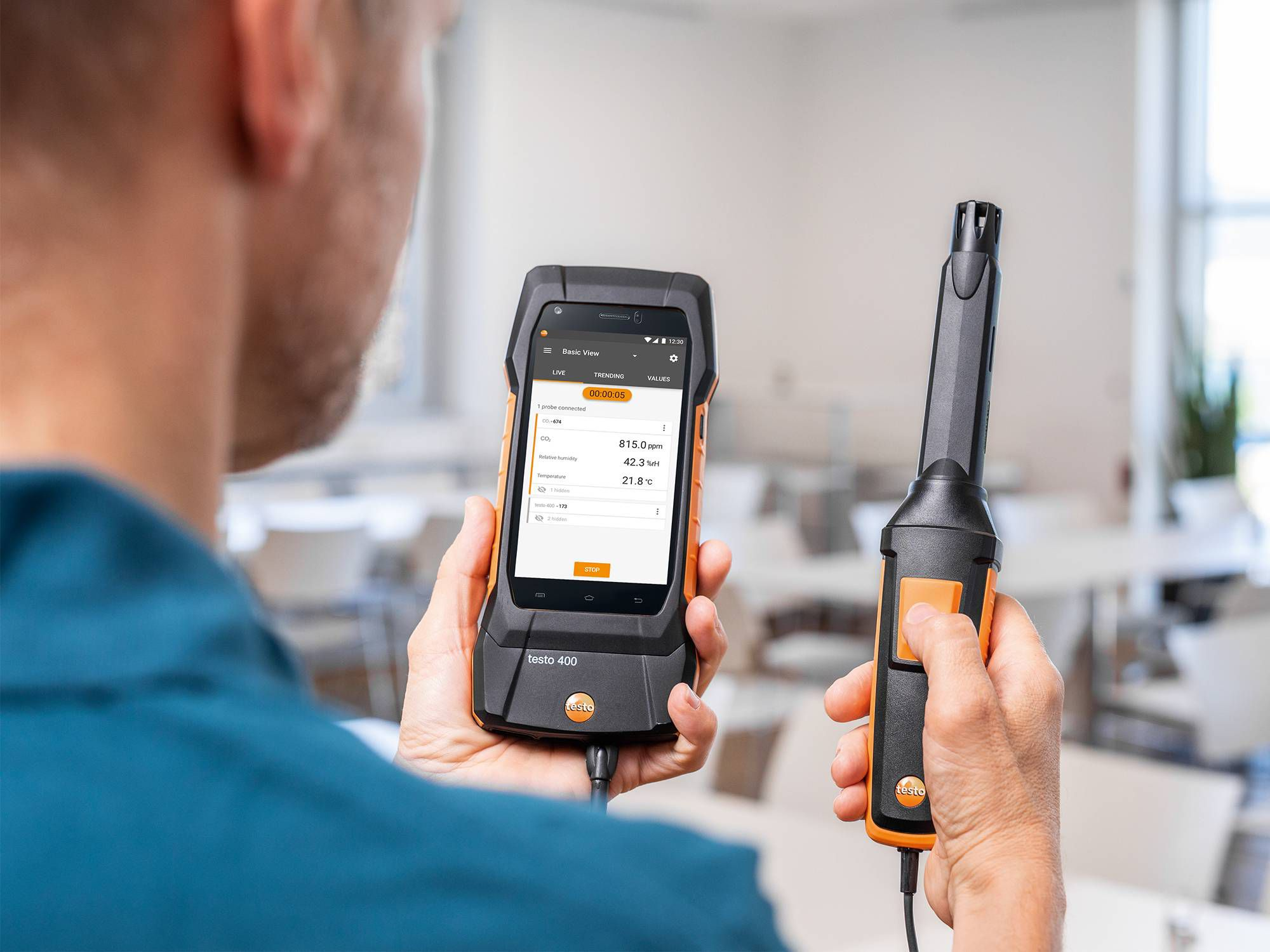 Testo 535 for indoor air quality measurement
