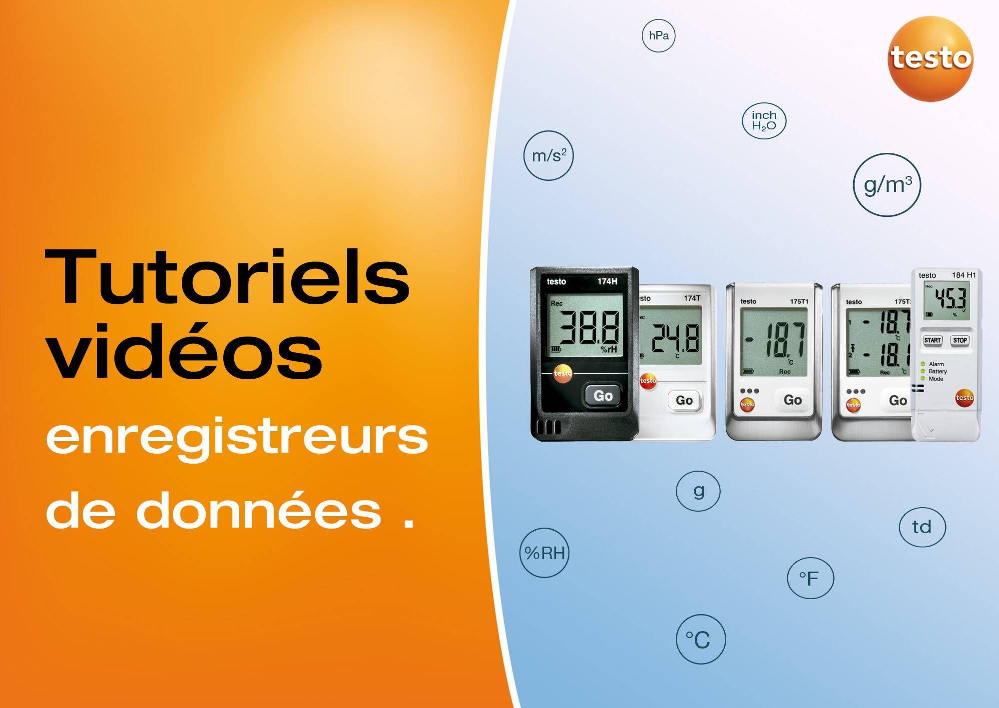 Tutoriels vidéos enregistreurs de données testo