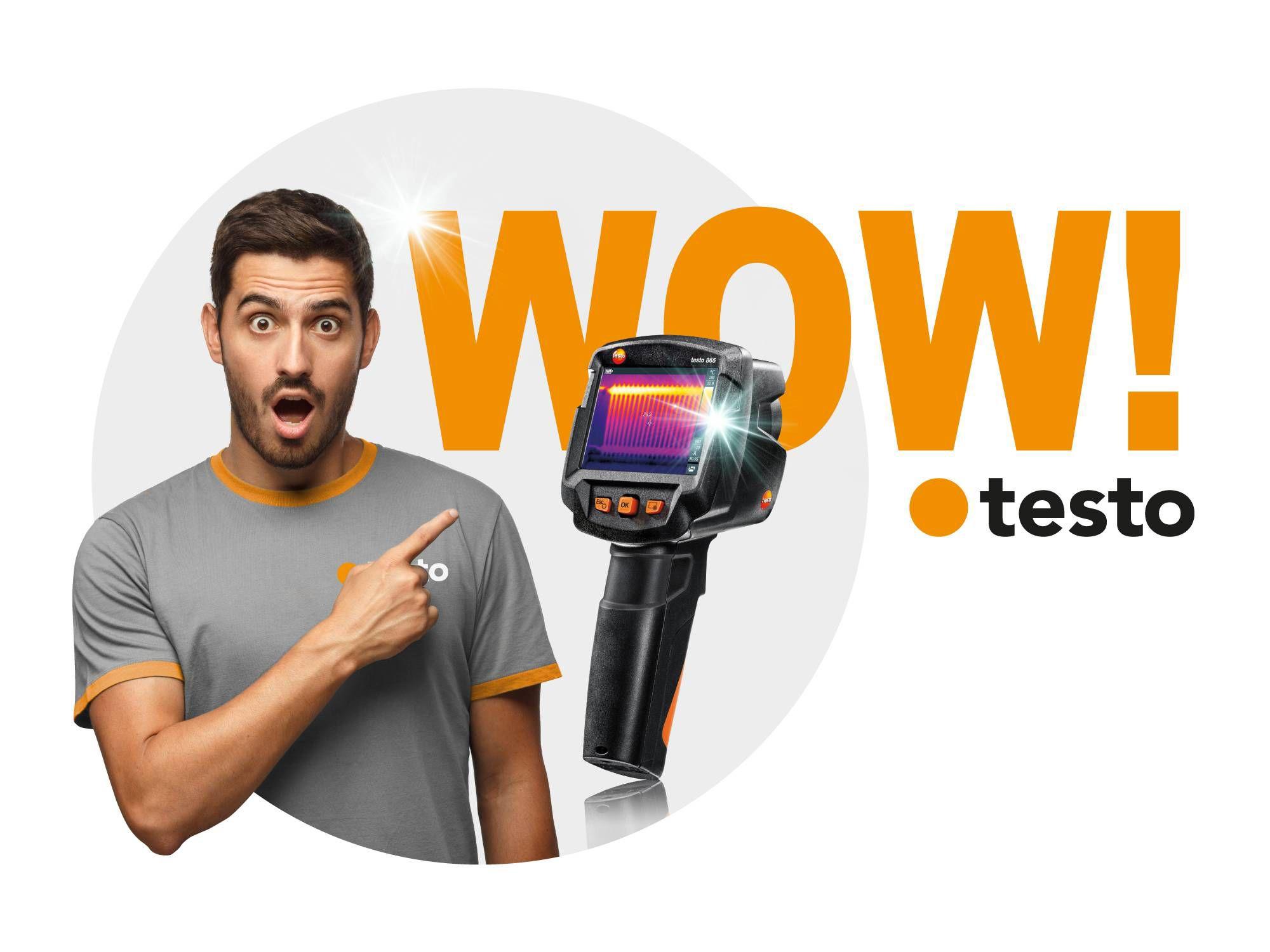 Cámara termográfica testo 865 campaña wow-features
