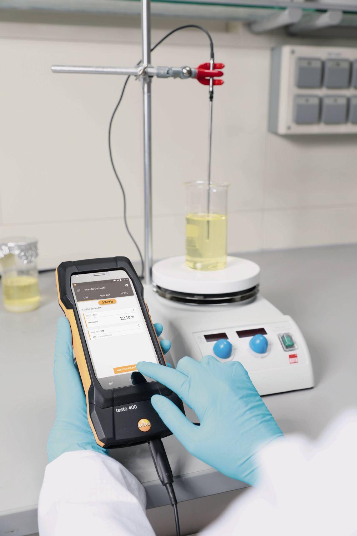 Aplicación sonda de laboratorio con recubrimiento de vidrio (digital)