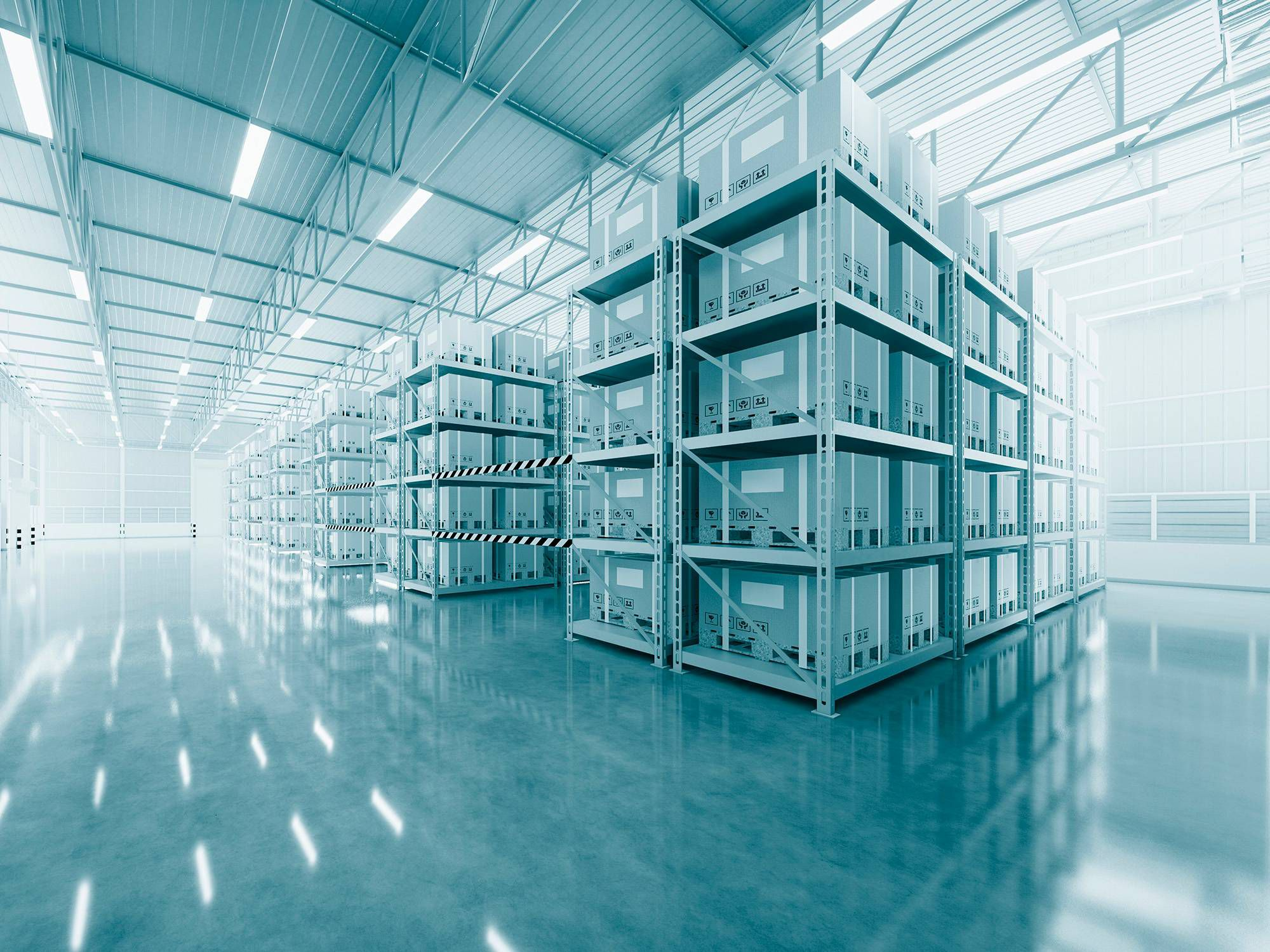Storage racks for pharmaceuticals in a logistics centre