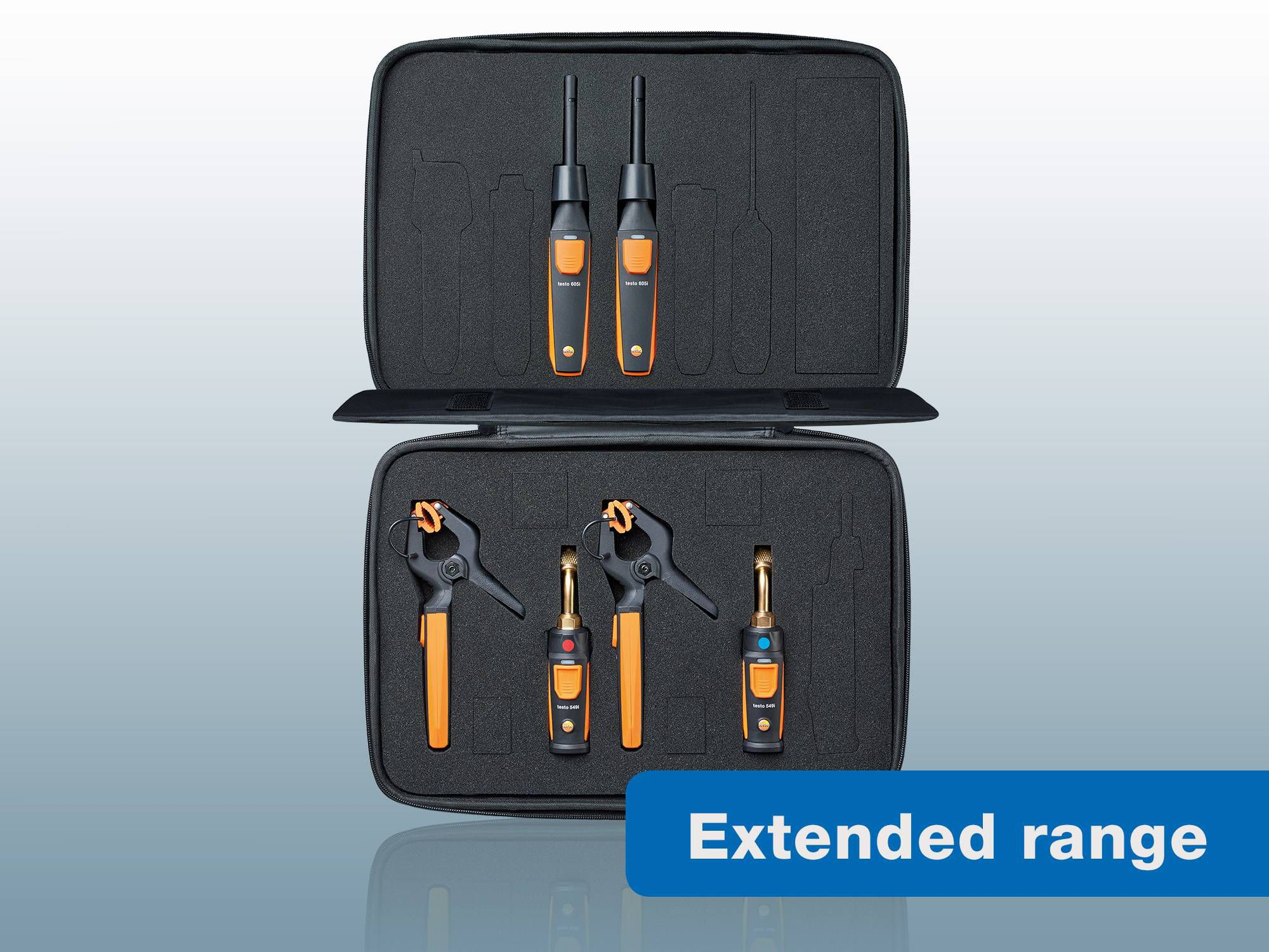 New testo Smart Probes AC & refrigeration test and load kit with extended Bluetooth range