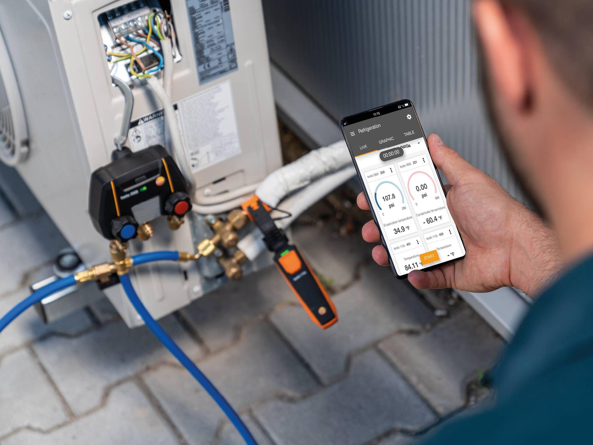 Measuring instrument refrigeration systems