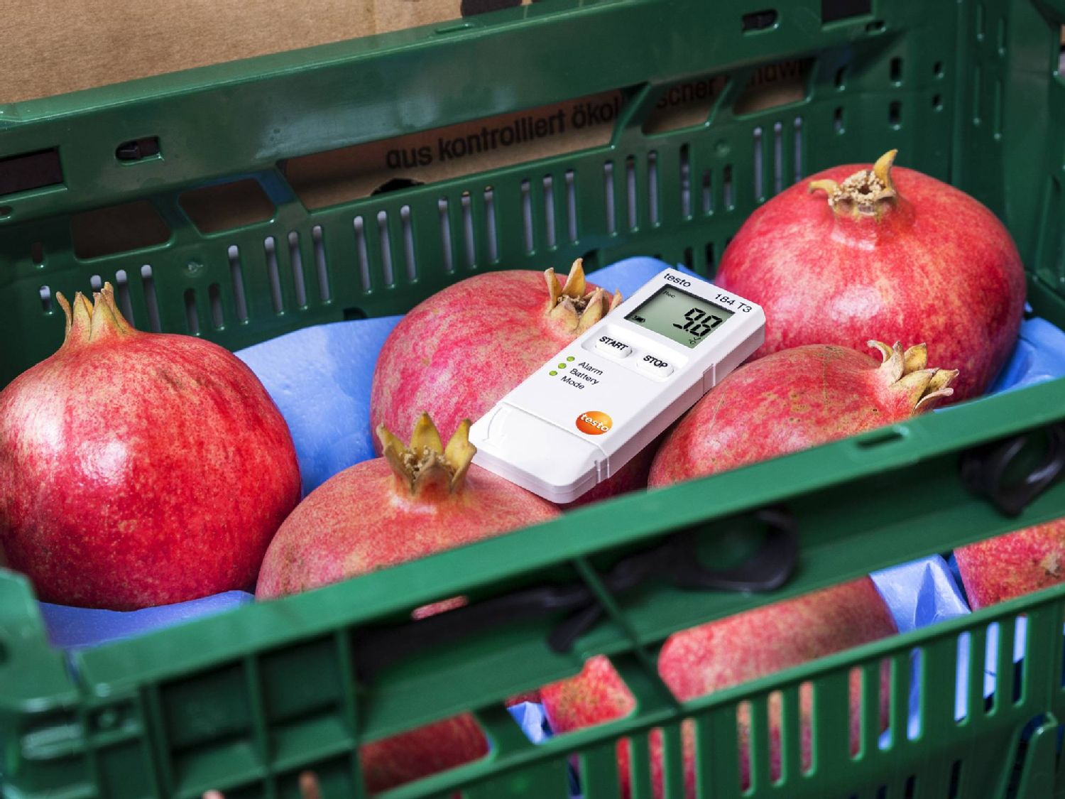 Shock data logger for food transport