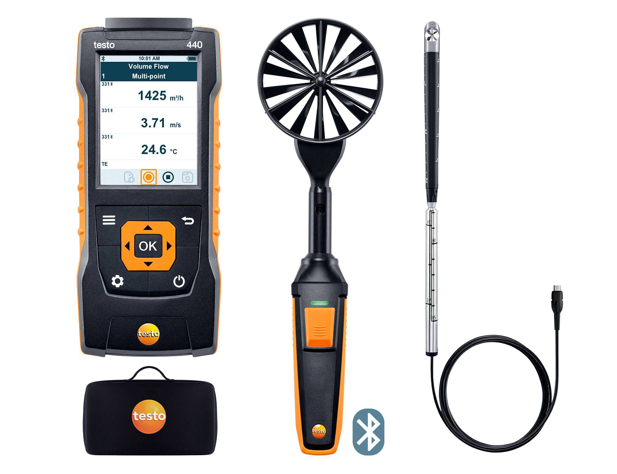 testo 440 Air Flow ComboKit 2 with Bluetooth®
