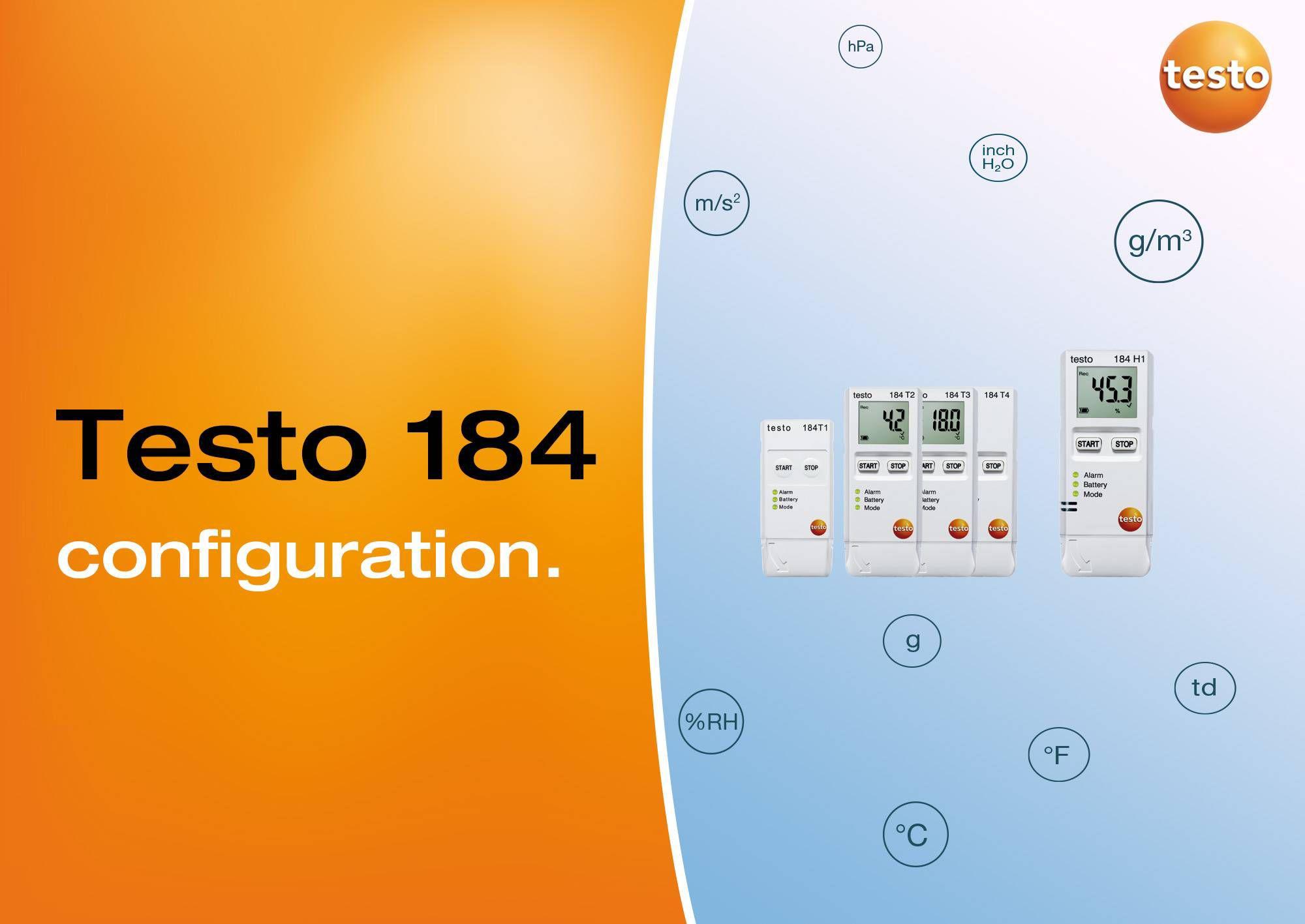 configuration testo 184