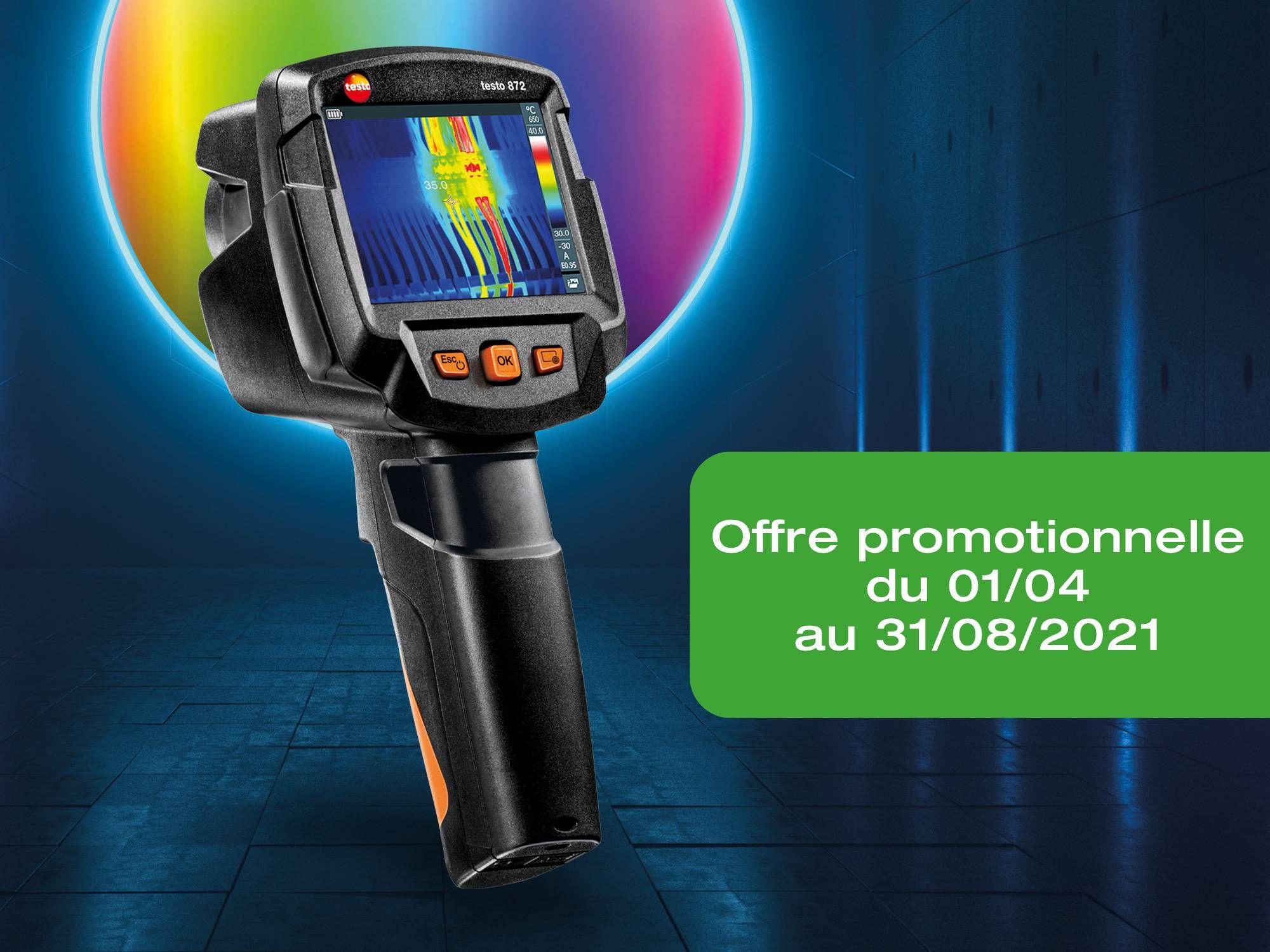 Offre promotionnelle achat caméra thermique testo 872 jusqu'au 31/08/2021