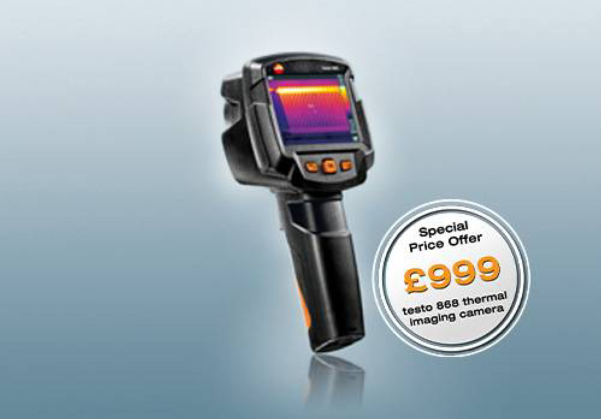 testo 868: Smart and networked thermal imaging.