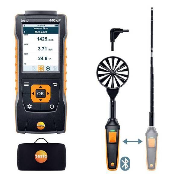 testo 440 delta P Air Flow ComboKit 1 with Bluetooth