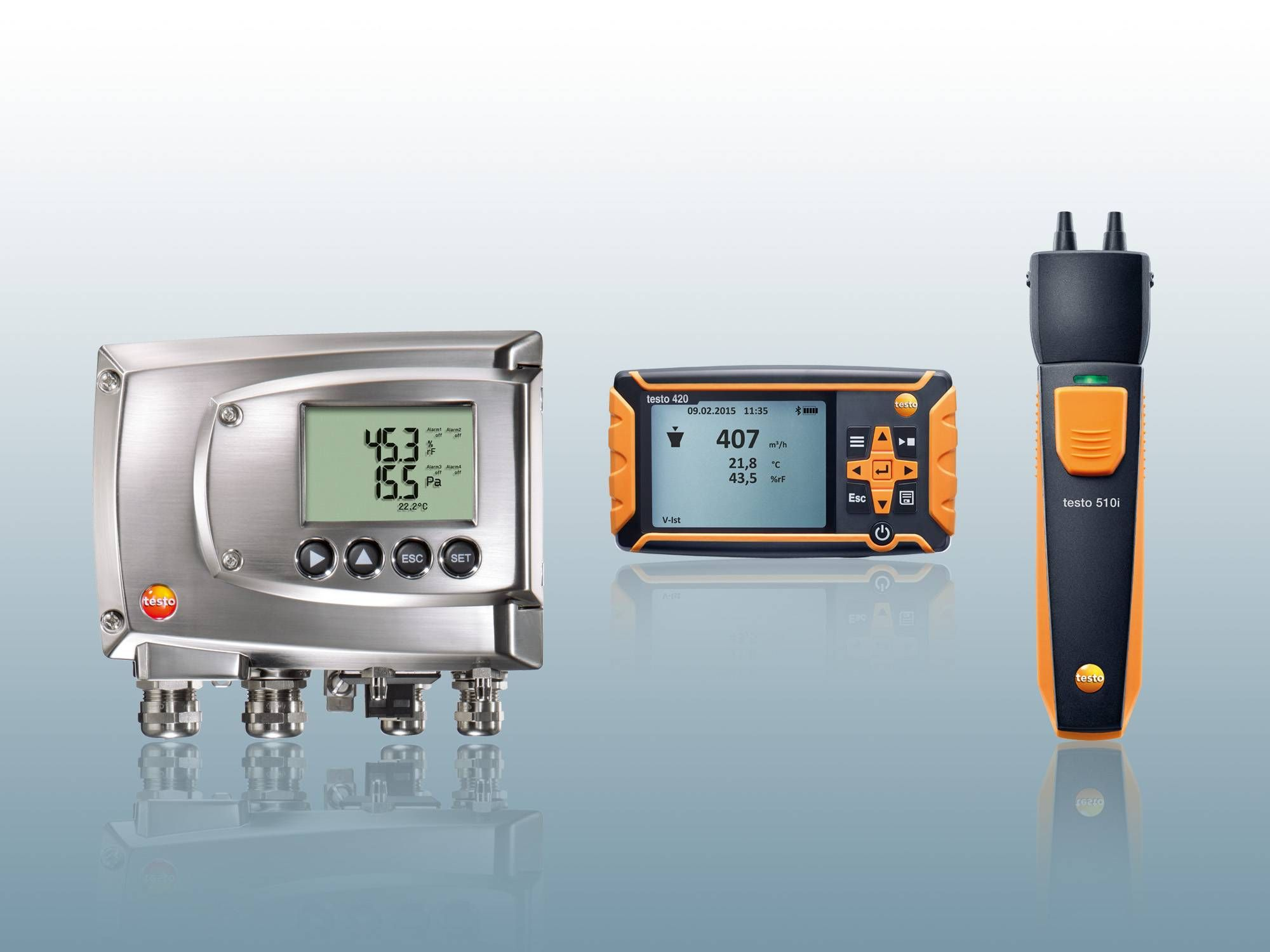 More pressure measuring instruments from Testo