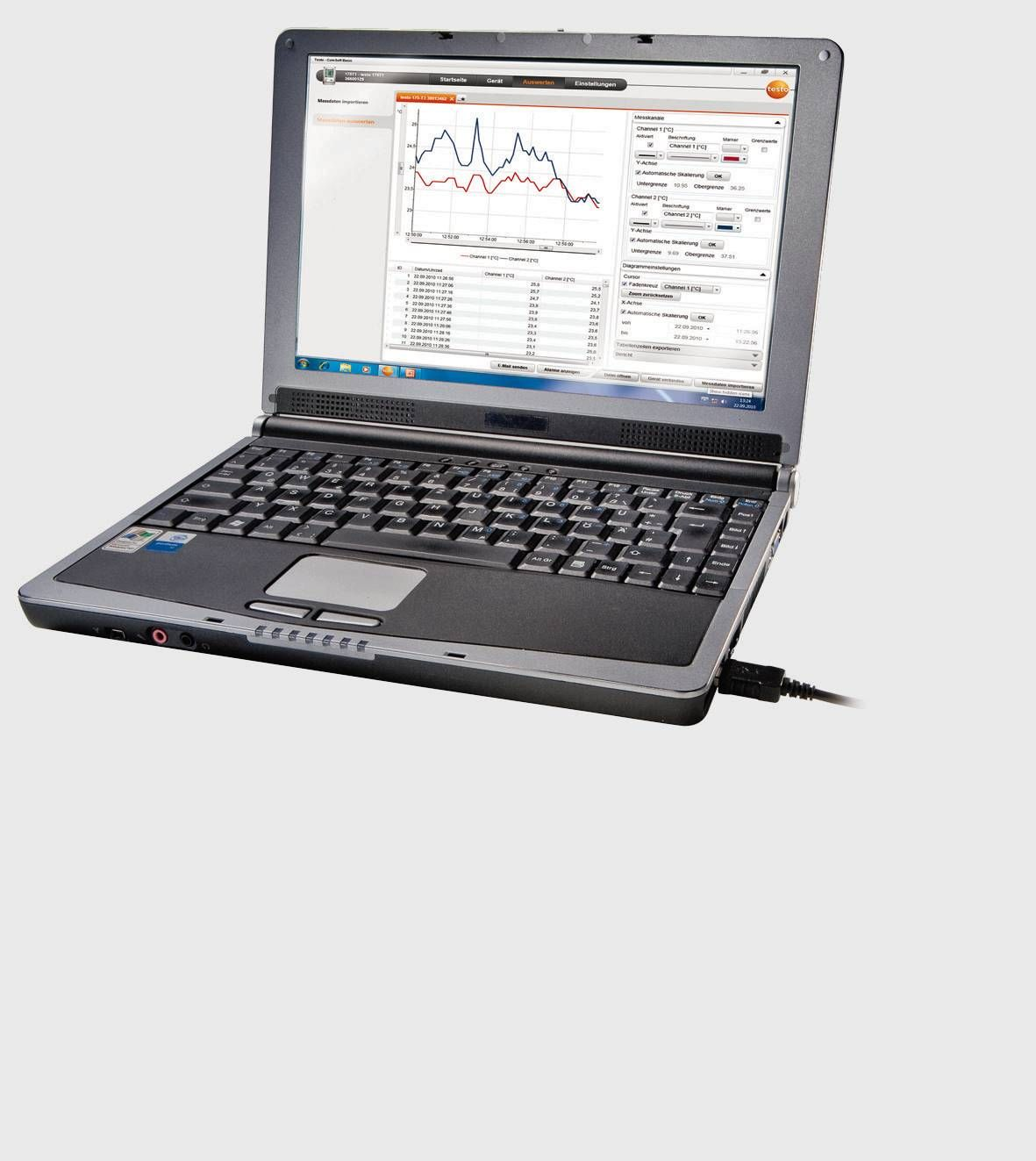 Software ComSoft para data logger de pressão