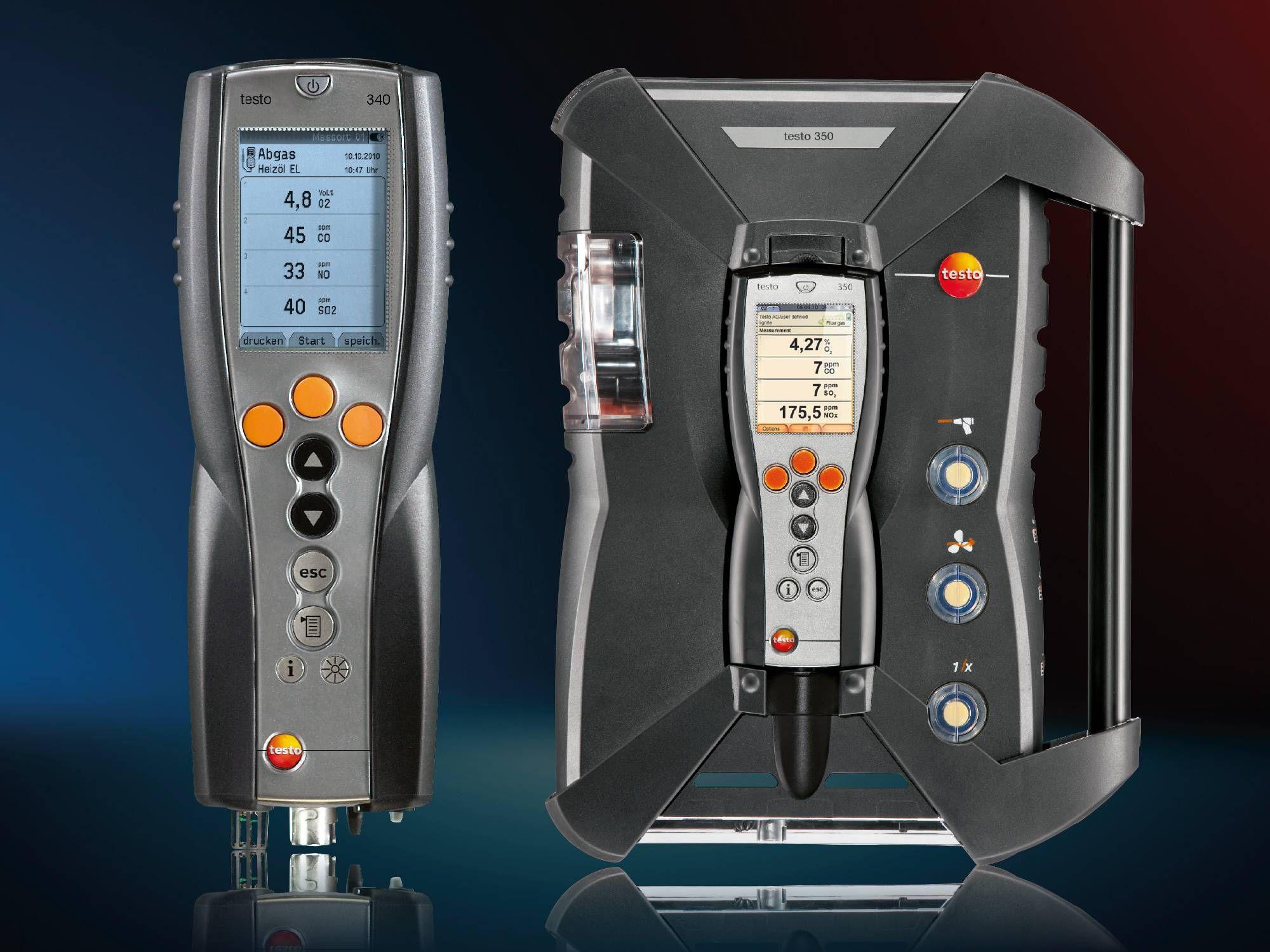 Industrielle Emissionsgeräte von Testo