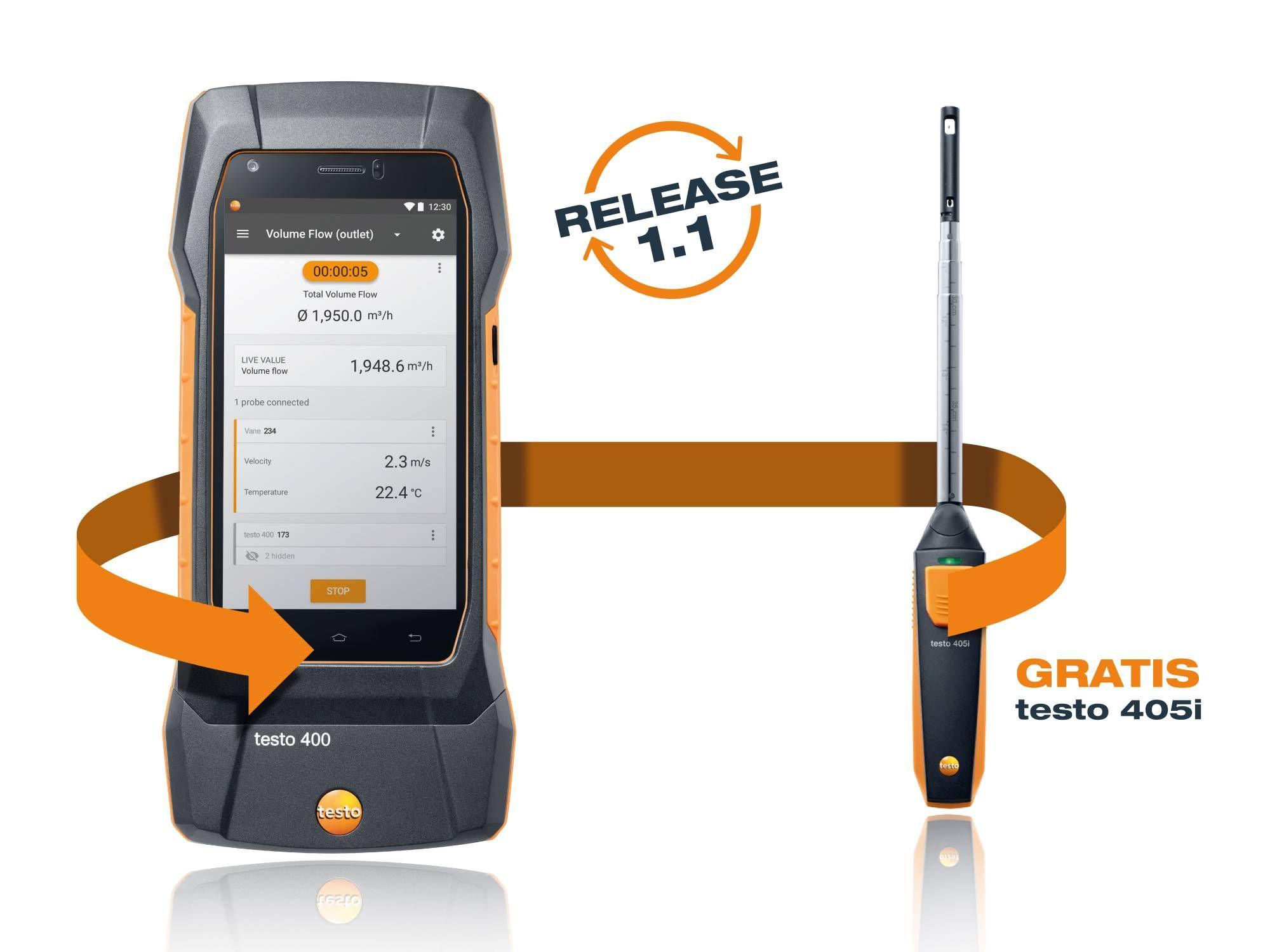 Instrumento Testo para medición de IAQ
