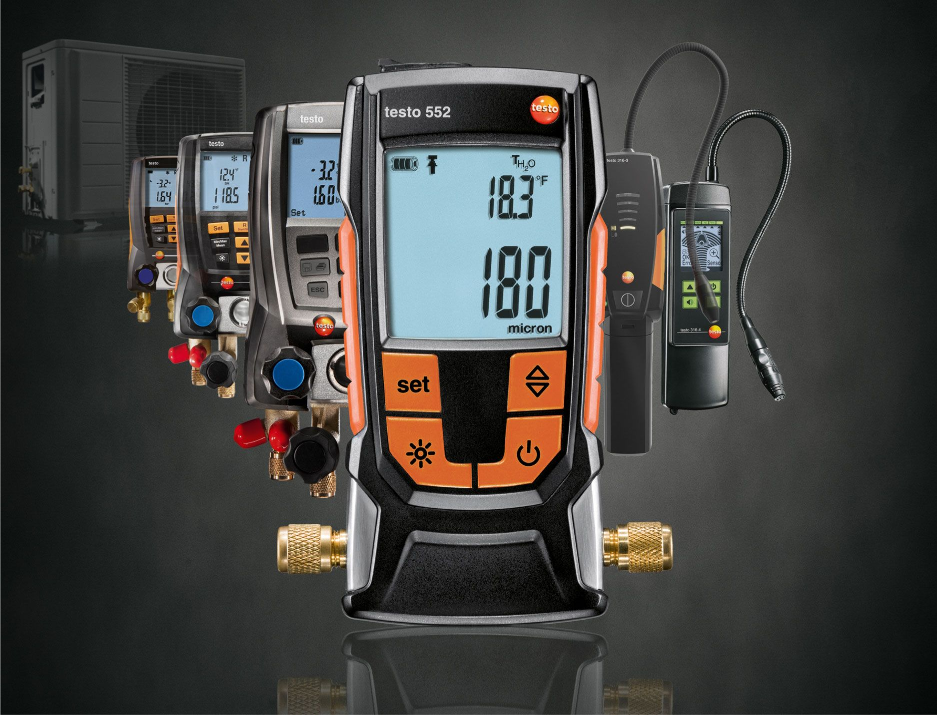 Testo Digital Refrigeration Manifolds