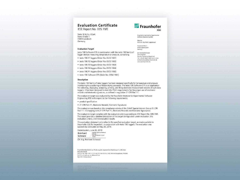 Certificats testo 191