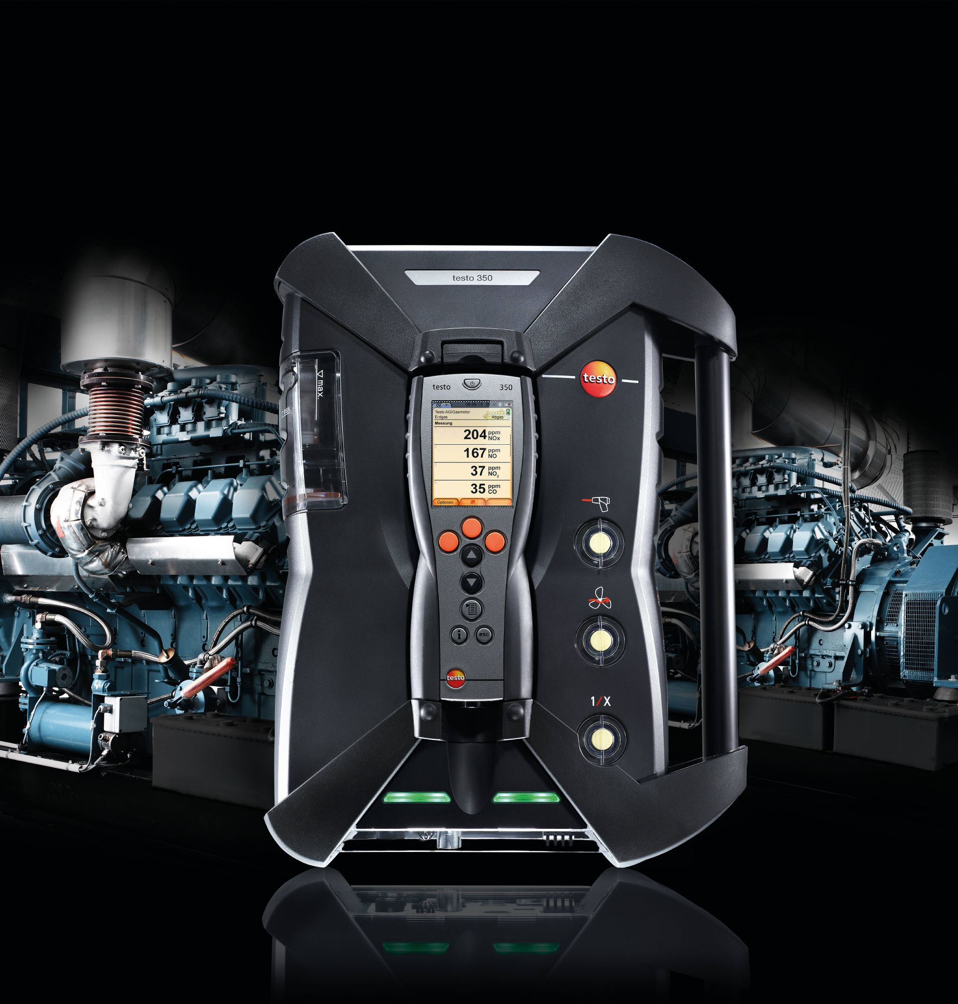 The emission analyzer testo 350