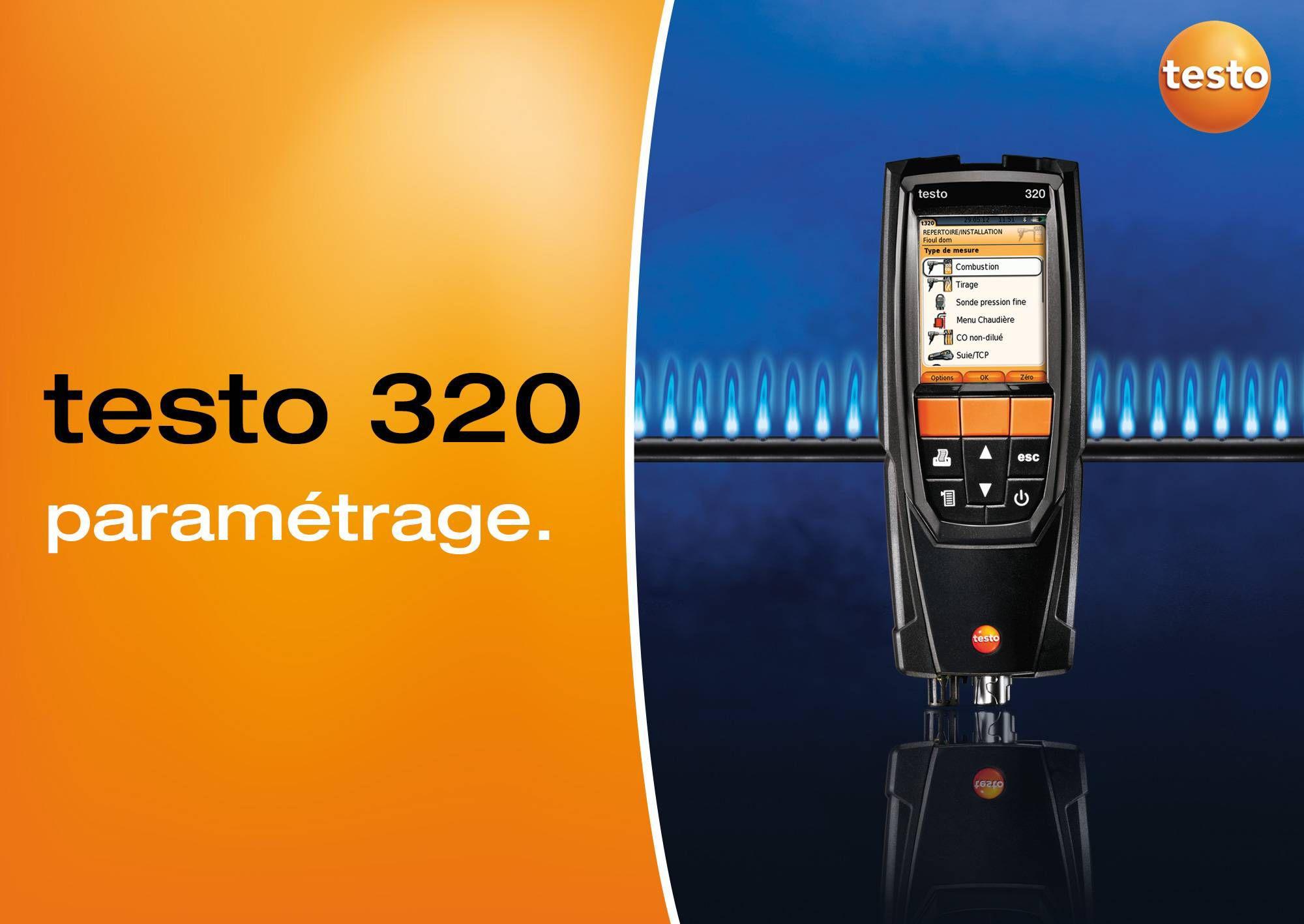 tutoriel vidéo paramétrage testo 320