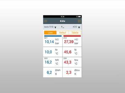 iPhone App Temperaturaufzeichnung